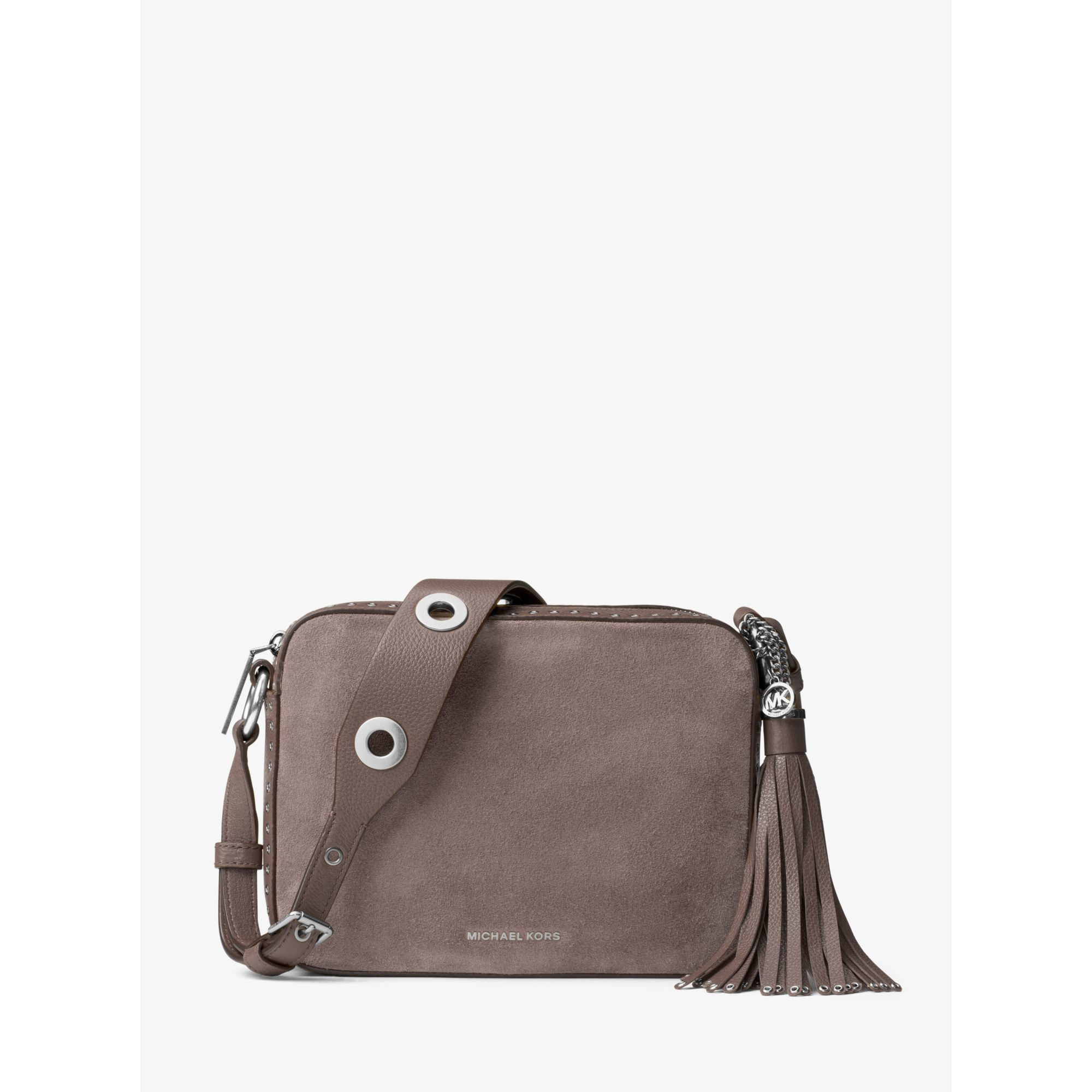 Michael Kors Brooklyn Large Suede Camera Bag | Lyst