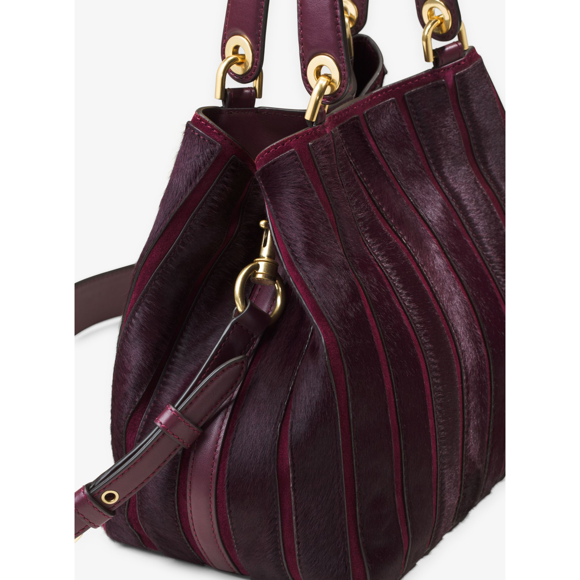 390e2c2e65c6 Michael Kors Brooklyn Medium Applique Suede Shoulder Bag in Purple ...