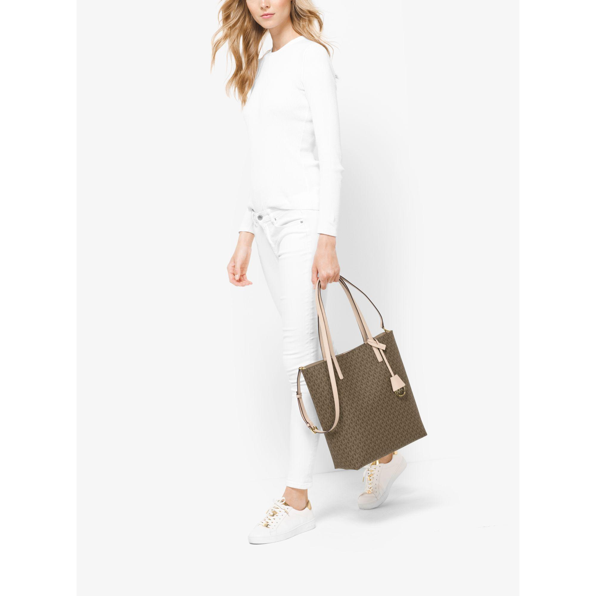 8dc9ca48e9ee Michael Kors Hayley Large Logo North-south Tote - Lyst