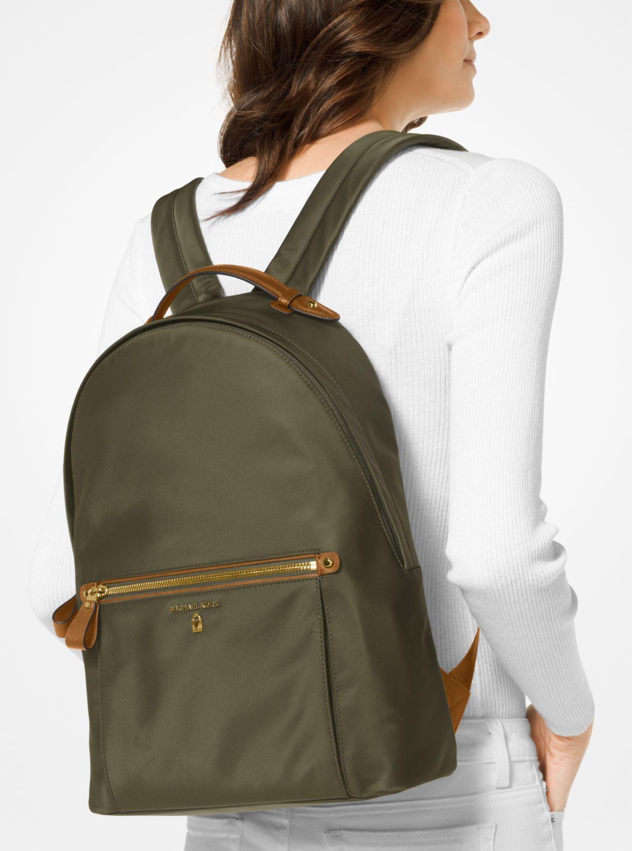 Michael Kors Kelsey Large Nylon Backpack In Green Lyst