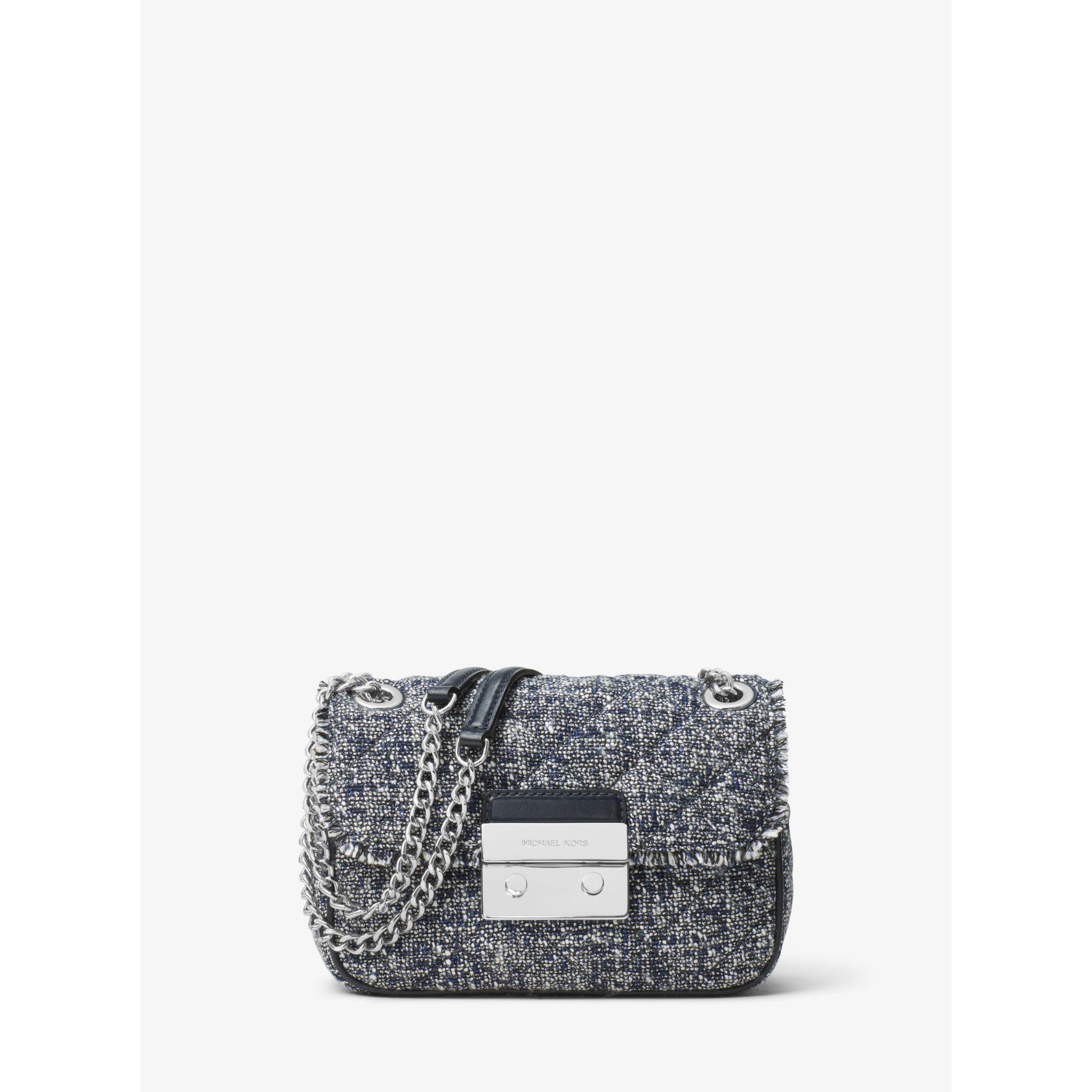 816d67902fe7 Michael Kors Sloan Small Tweed Shoulder Bag - Lyst