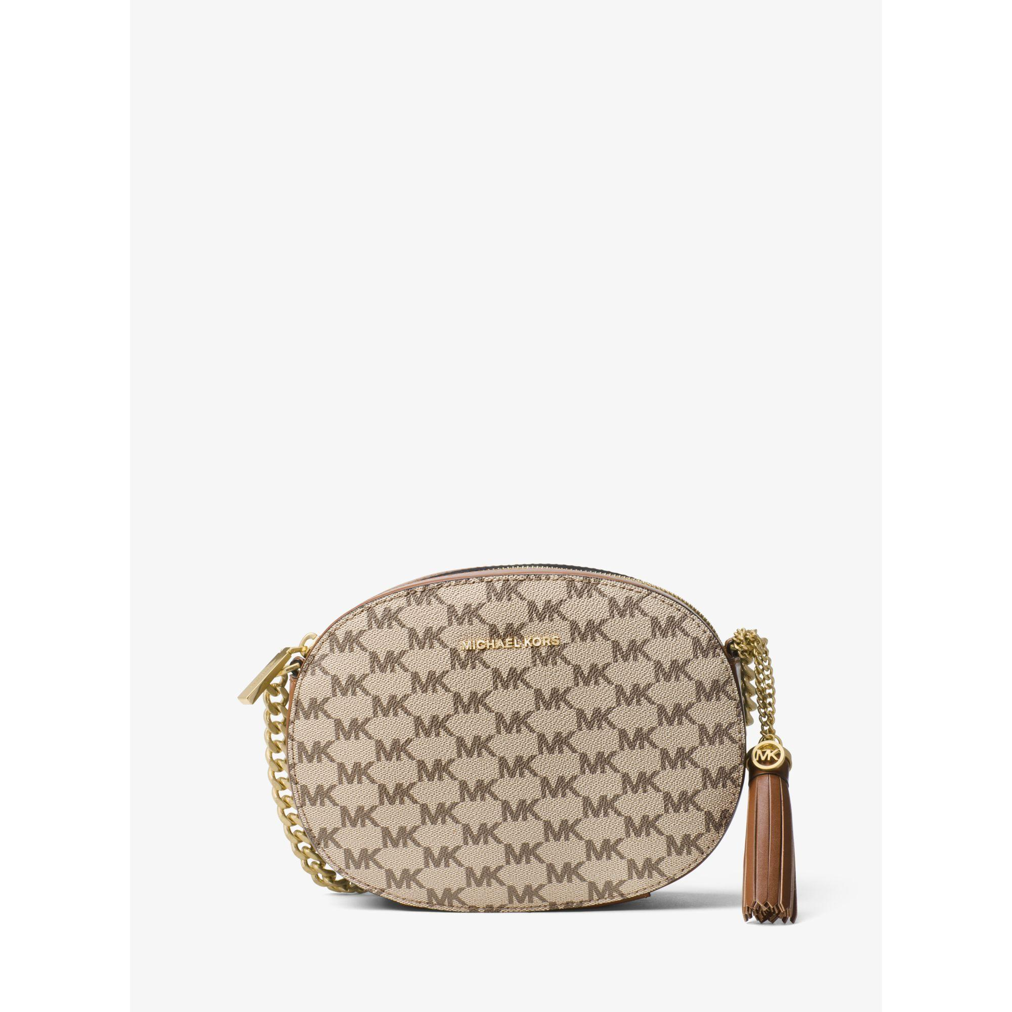 b5661da52522 Lyst - Michael Kors Ginny Medium Logo Crossbody