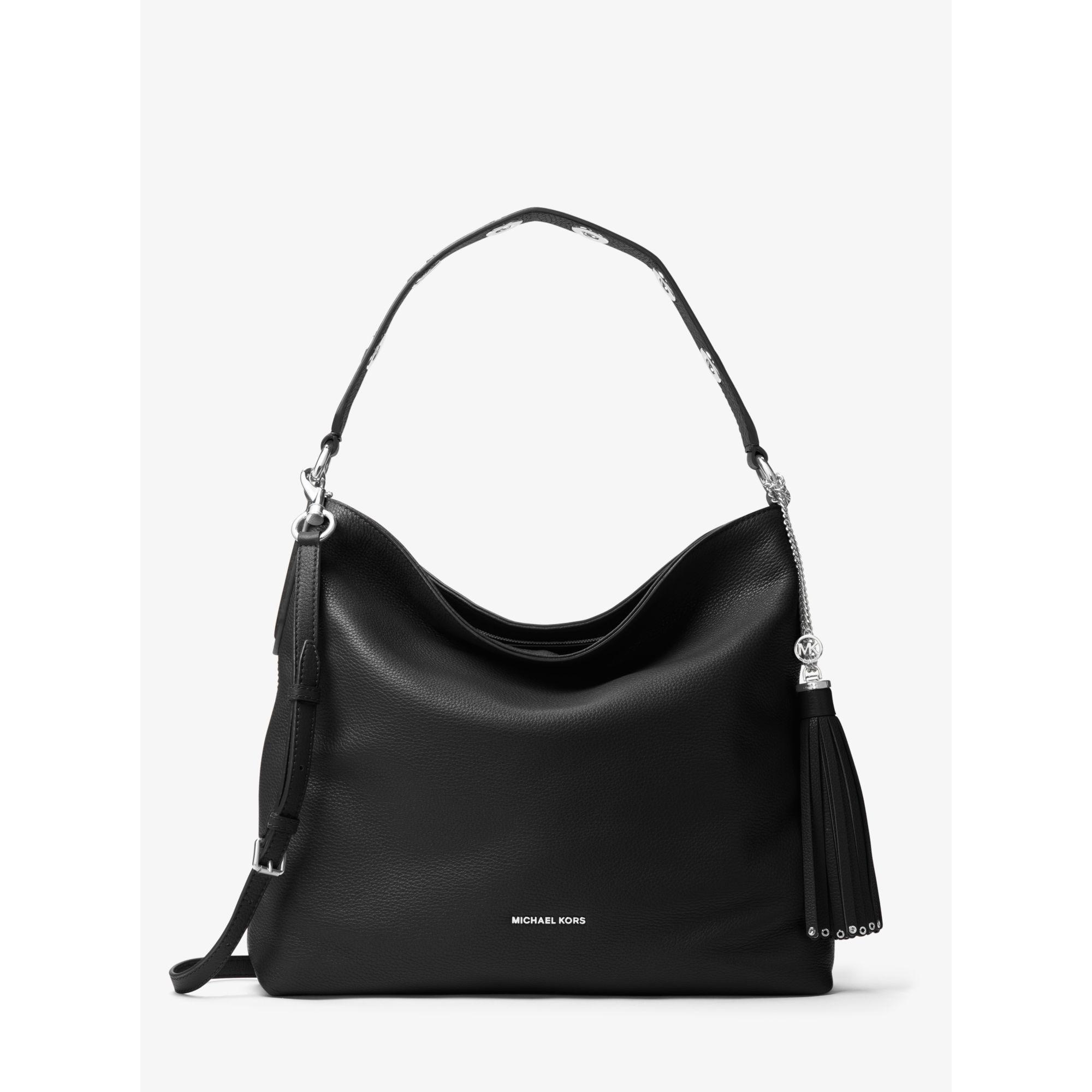 e30b67e68c56a6 Michael Kors Brooklyn Large Leather Shoulder Bag Black   Stanford ...