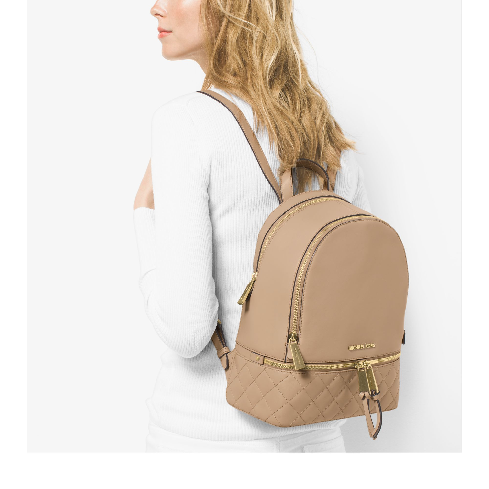 Michael Kors Rhea Mini Backpack Brown - Ken Chad Consulting Ltd 4705eede7a