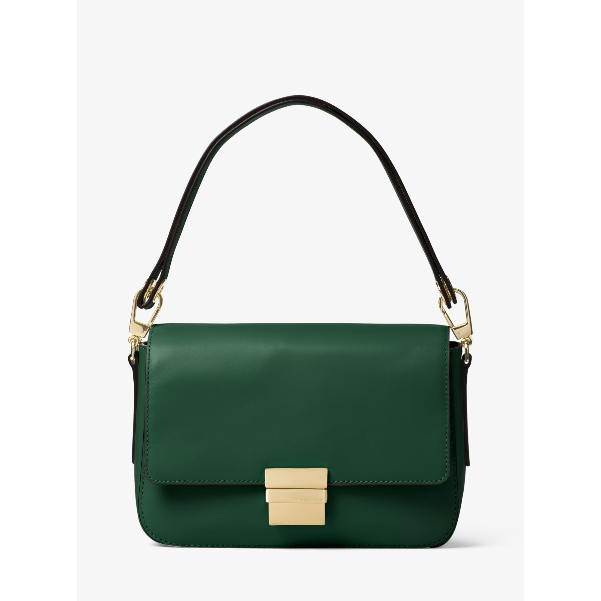 373b8e802057 Lyst - Michael Kors Madelyn Large Leather Shoulder Bag in Green