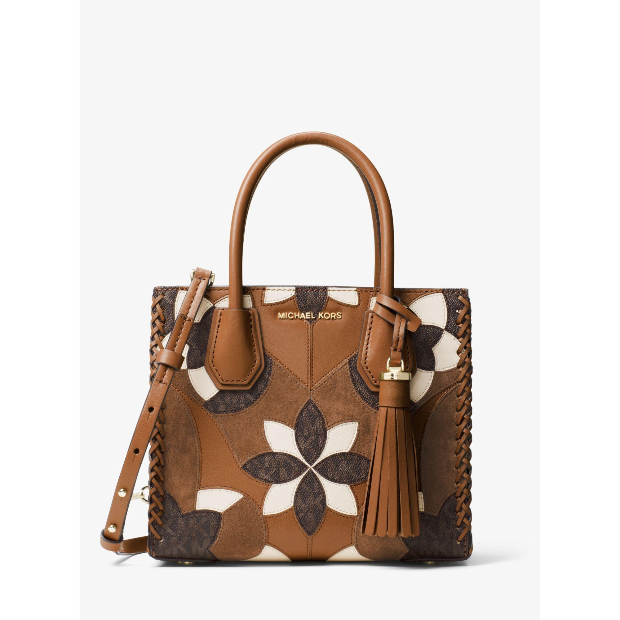 Michael Kors Mercer Floral Patchwork Leather Crossbody | Lyst