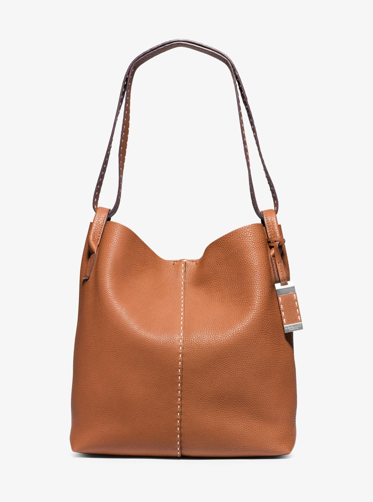 9469a1d32fb0 Michael Kors Rogers Large Leather Hobo in Brown - Lyst