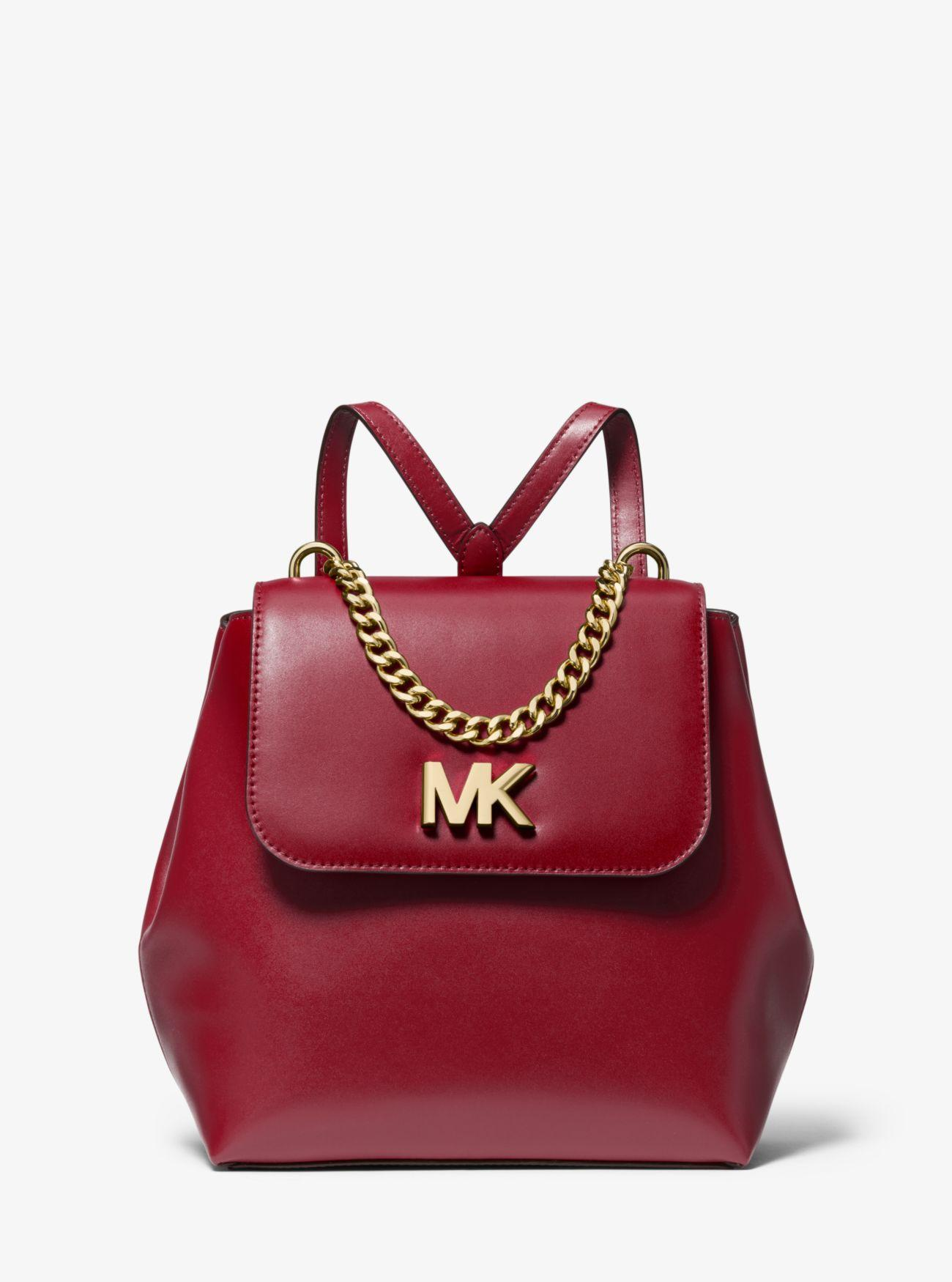 216005b656e MICHAEL Michael Kors Mott Leather Backpack in Red - Lyst