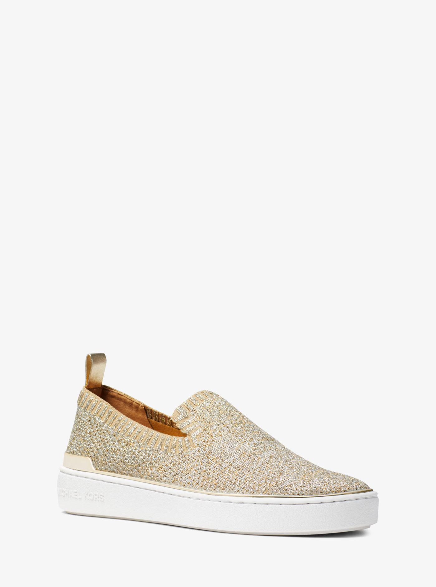 938e8dae892f Michael Kors Michael Skyler Slip-on Sneakers in Metallic - Save ...