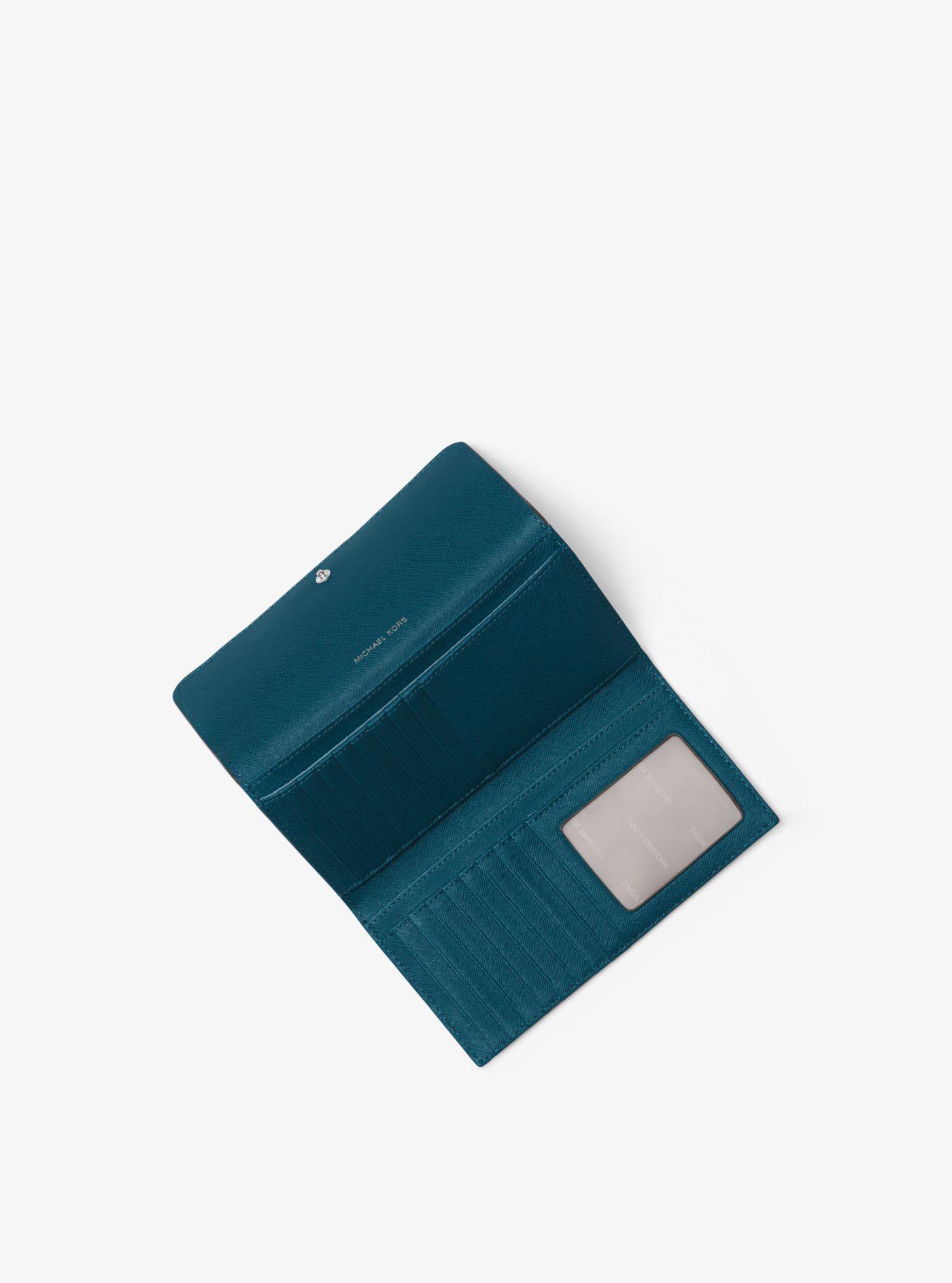 9d348f0105856 Michael Kors - Blue Mercer Tri-fold Leather Wallet - Lyst. View fullscreen