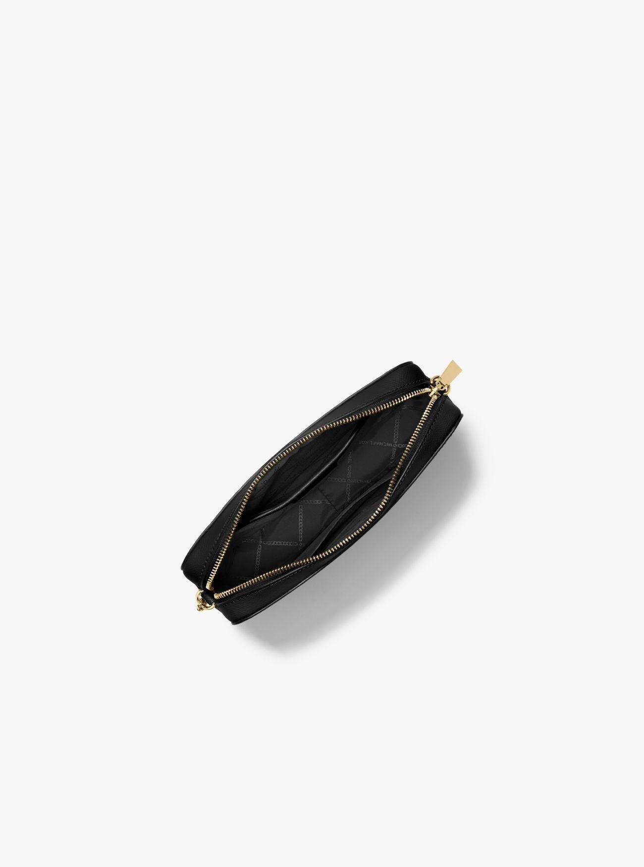 a4d646cb3ab4 Michael Kors - Black Jet Set Large Saffiano Leather Crossbody Bag - Lyst.  View fullscreen