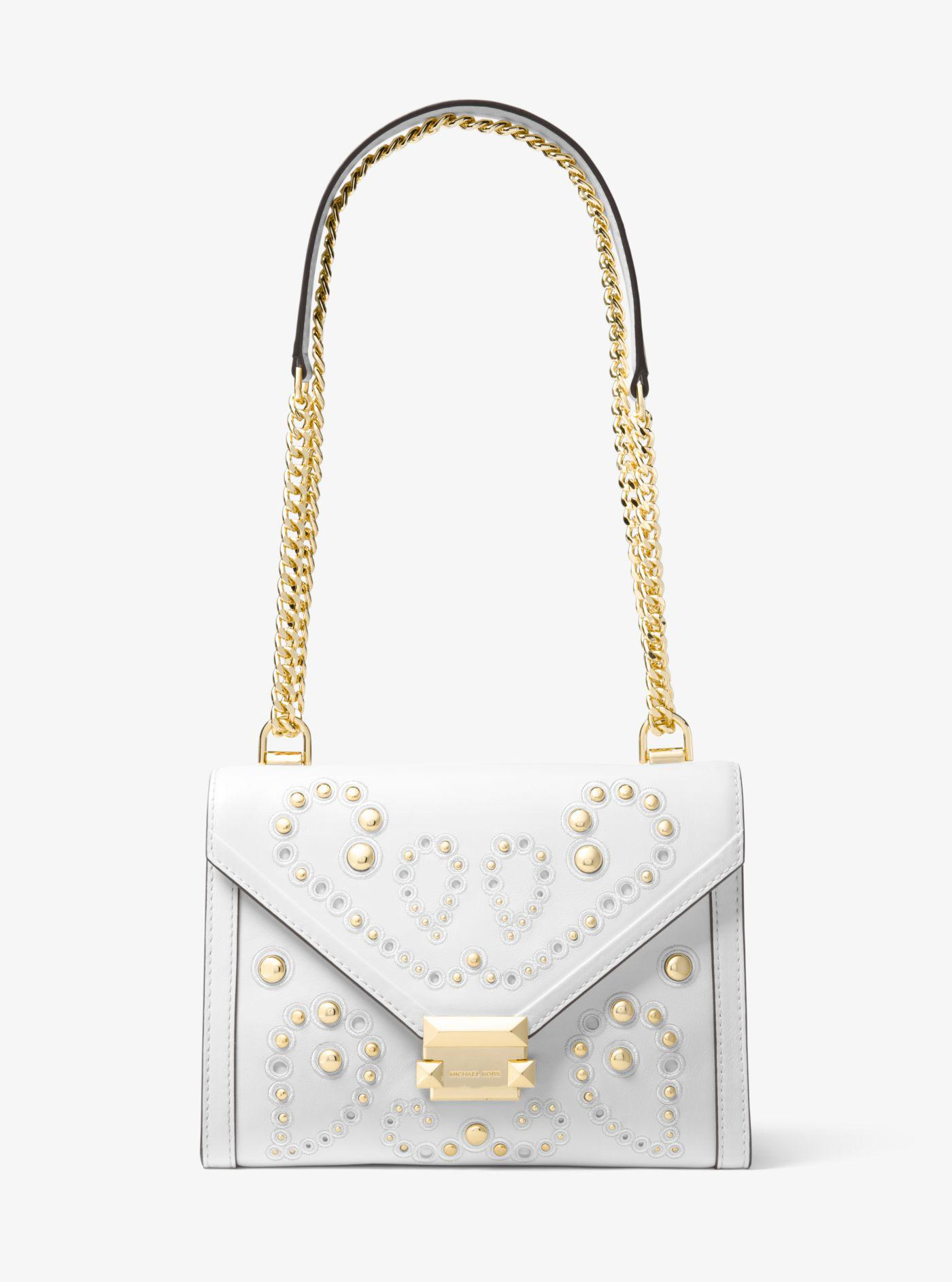 e30fc388238a2 Lyst - Michael Kors Whitney Large Embellished Leather Convertible ...