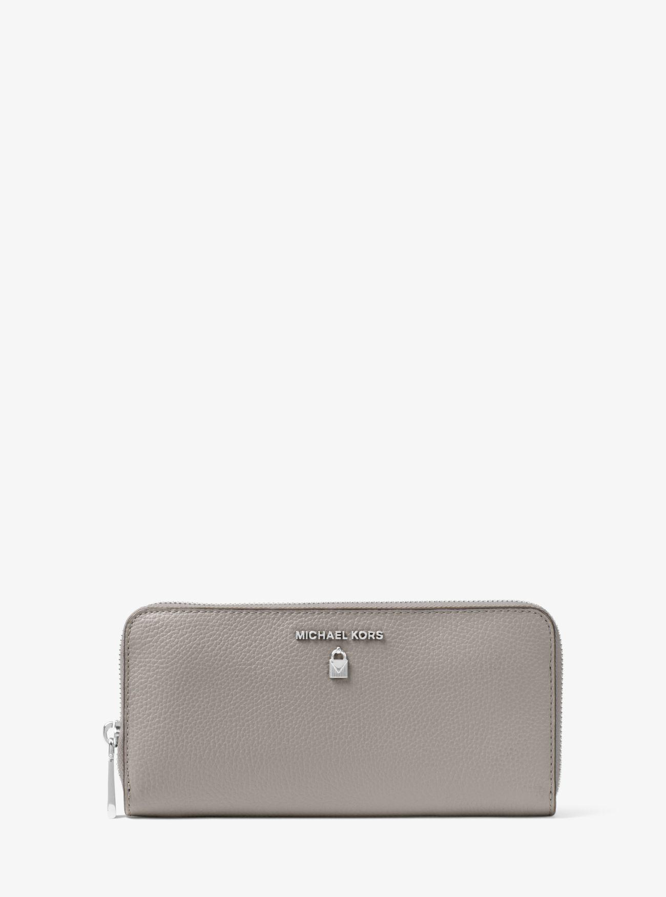 a62232526be463 Michael Kors Sutton Leather Continental Wallet in Gray - Lyst