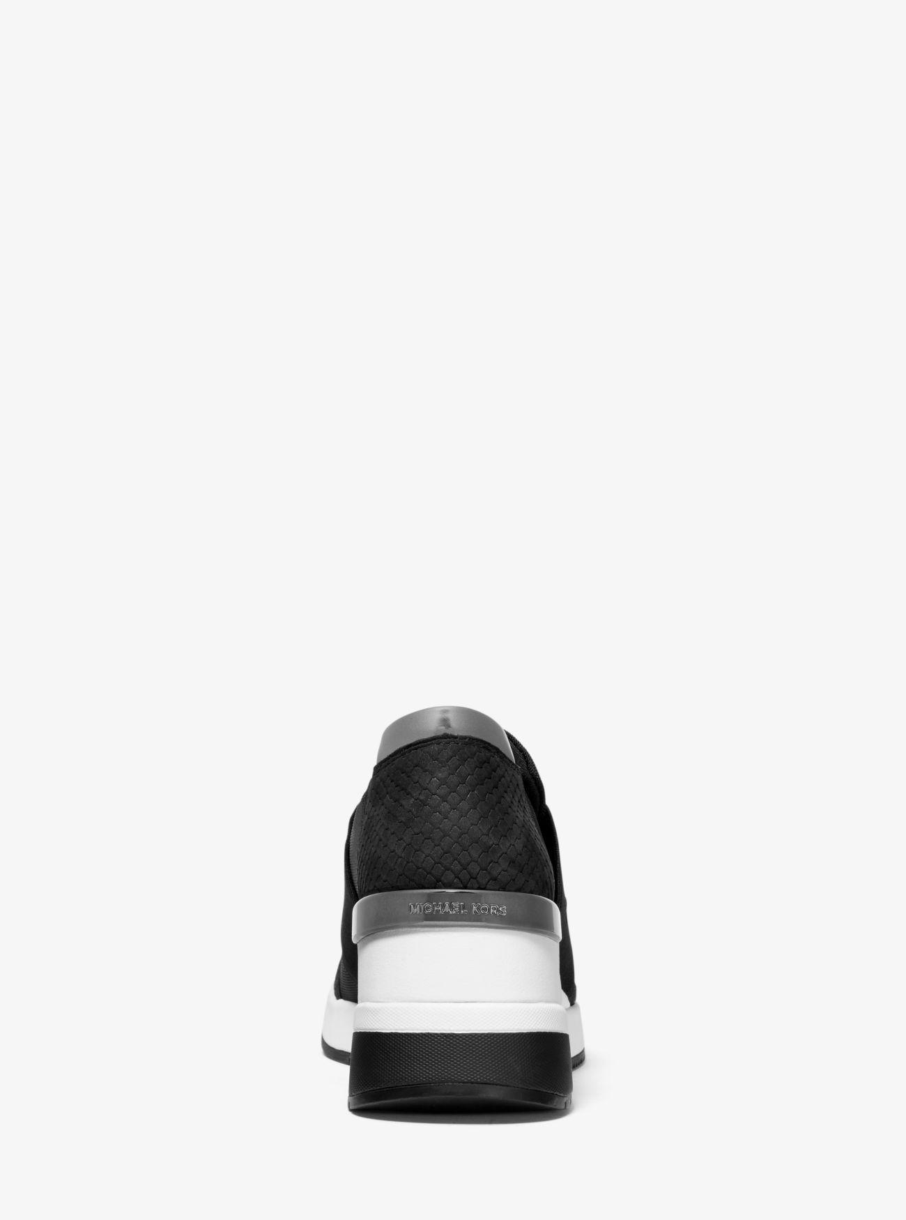 d9eae2b4346e86 MICHAEL Michael Kors Women's Felix Nylon Slip - On Sneakers in Black - Lyst