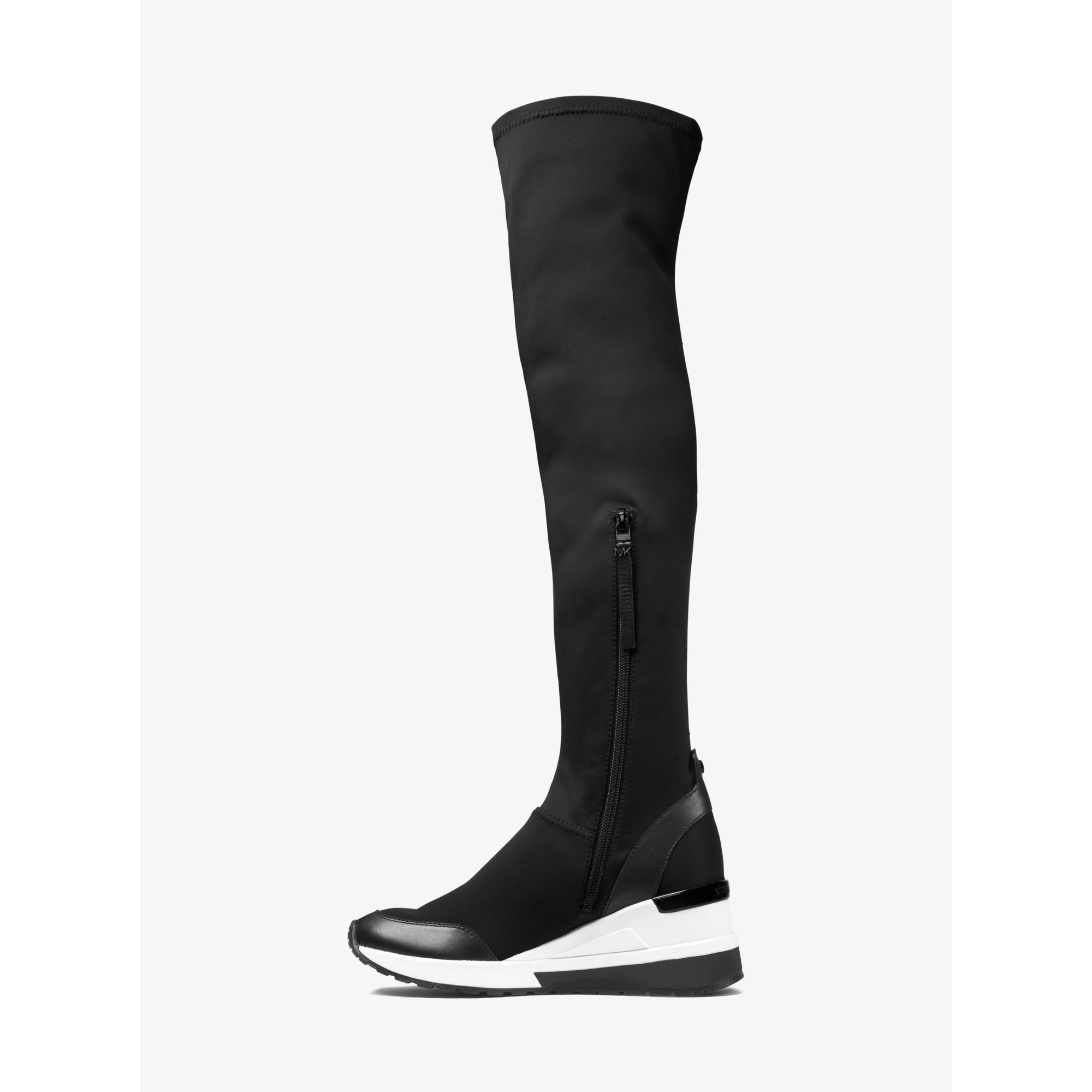 33cbc65bd09a Michael Kors Ace Over-the-knee Scuba Boot in Black - Lyst