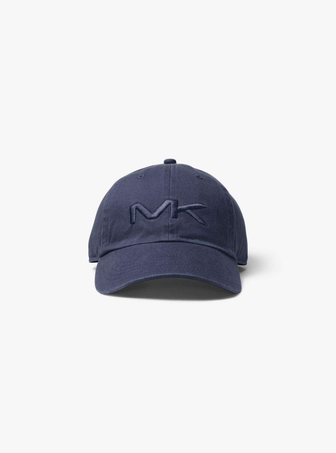 87a6af0a2ef Lyst - Michael Kors Logo Cotton Baseball Hat in Blue for Men