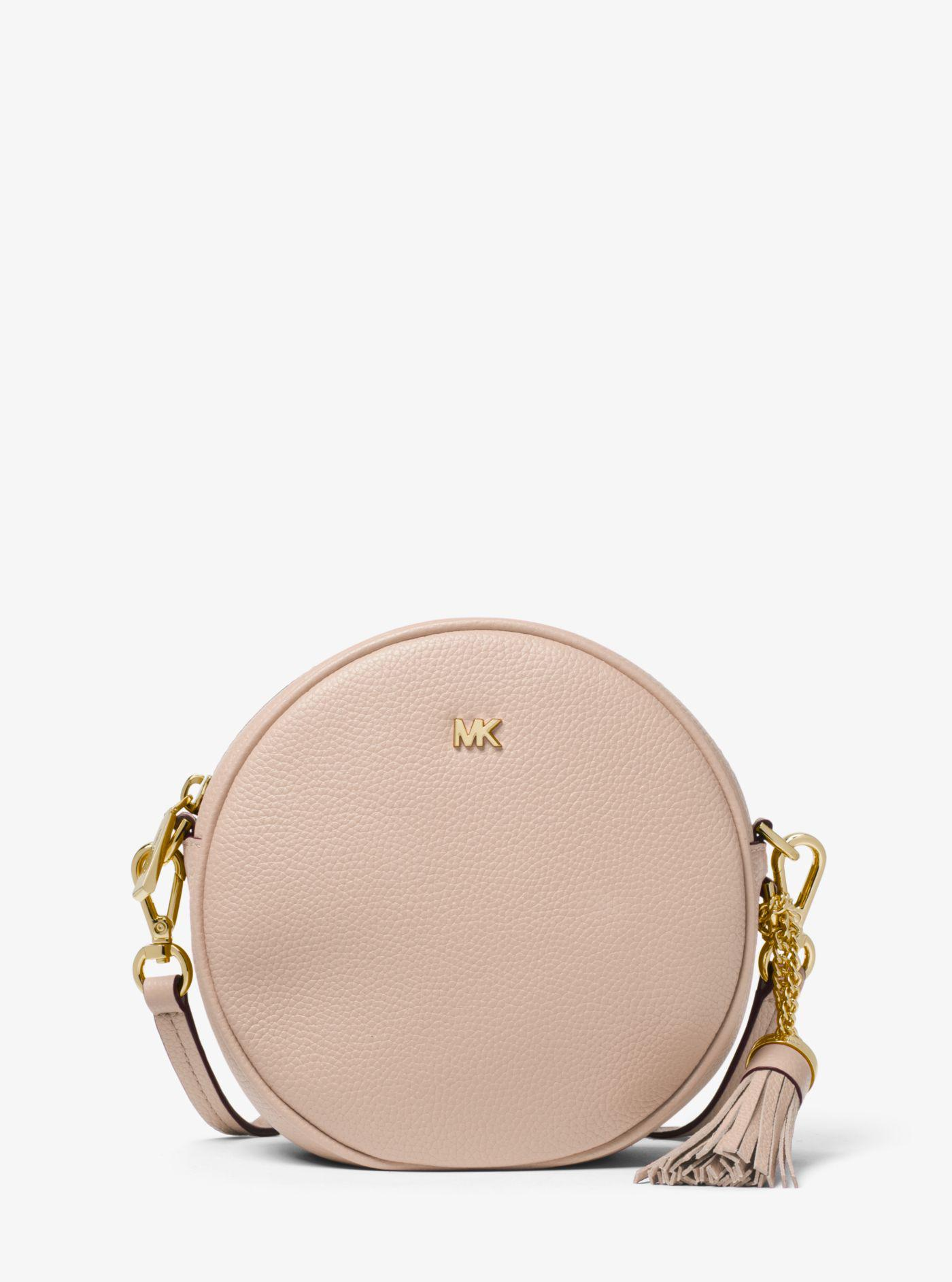 ce6ca985119b Michael Kors Pebbled Leather Canteen Crossbody in Pink - Lyst