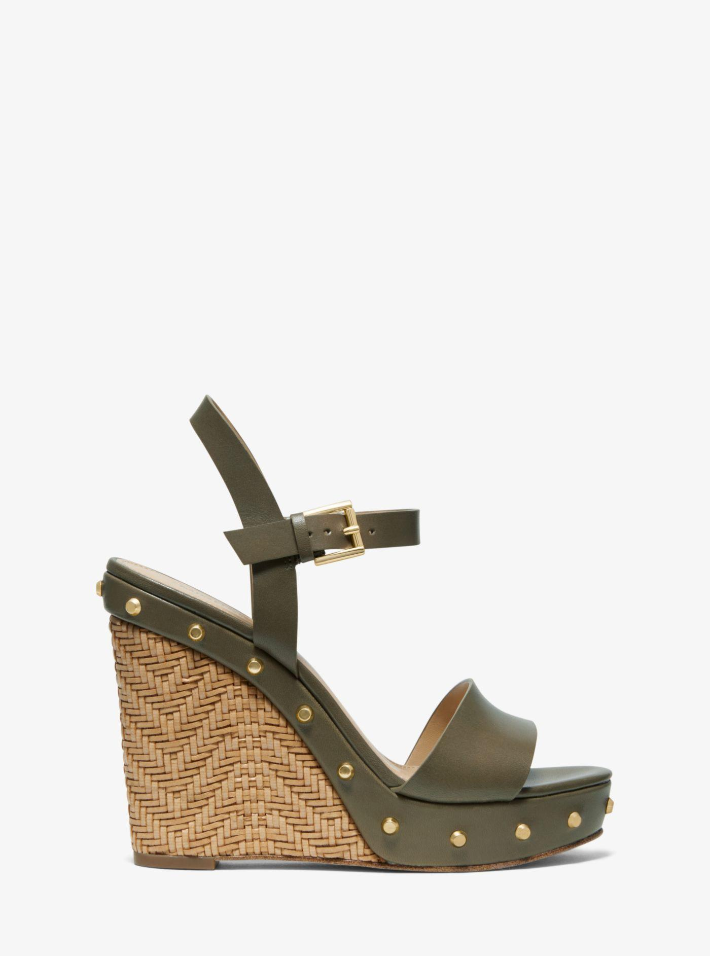 41925d7a94f6 Michael Kors - Green Ellen Leather Wedge - Lyst. View fullscreen