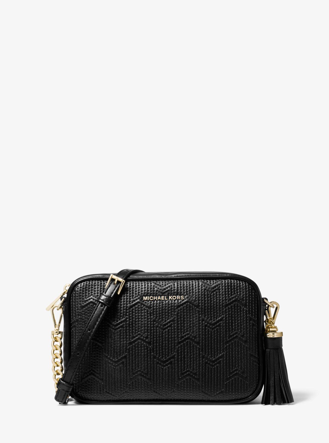 0d5781c3253008 MICHAEL Michael Kors Ginny Medium Deco Quilted Leather Crossbody Bag ...