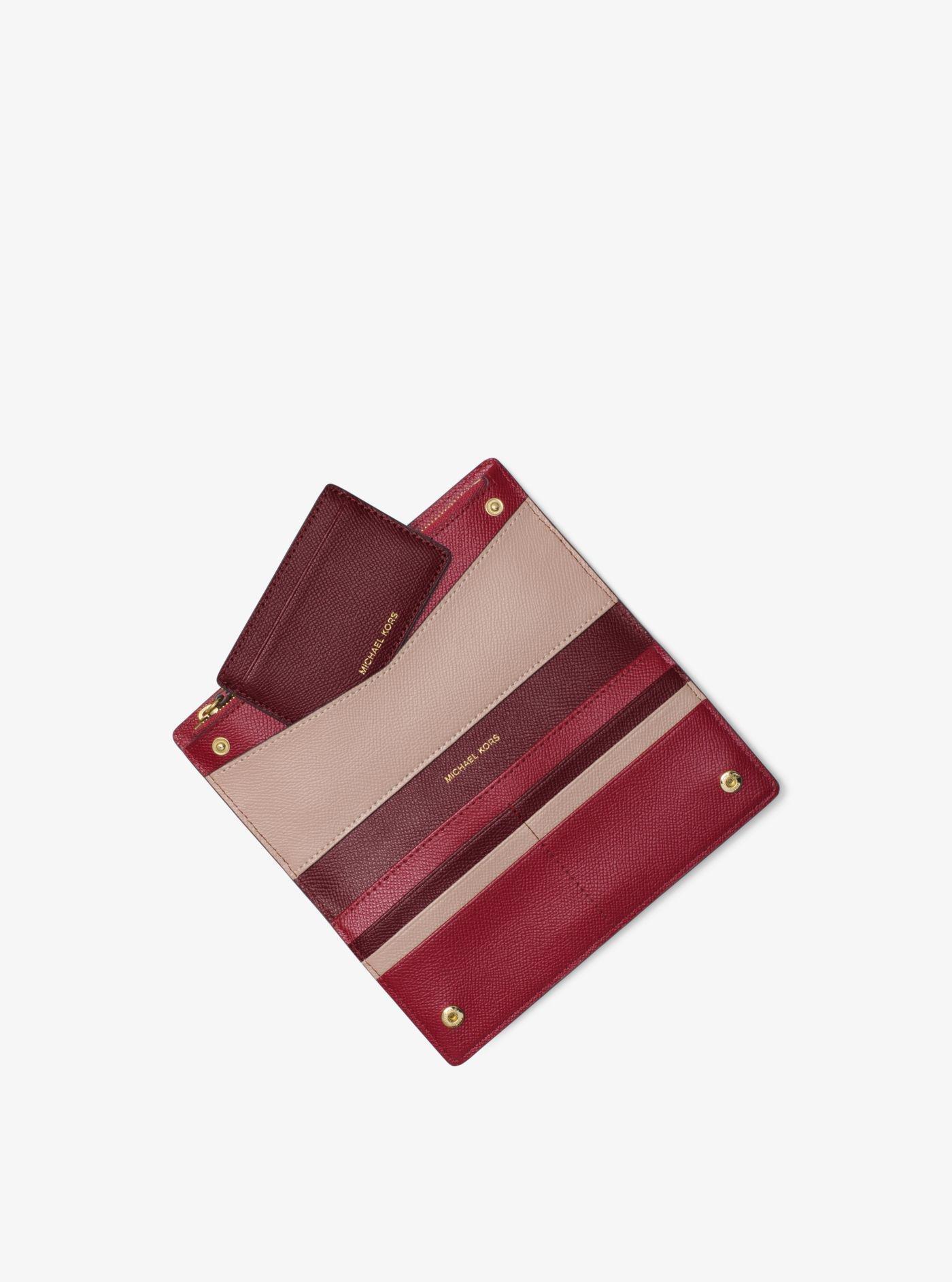 f6097d6f0042 Michael Kors Large Saffiano Leather Slim Wallet - Lyst