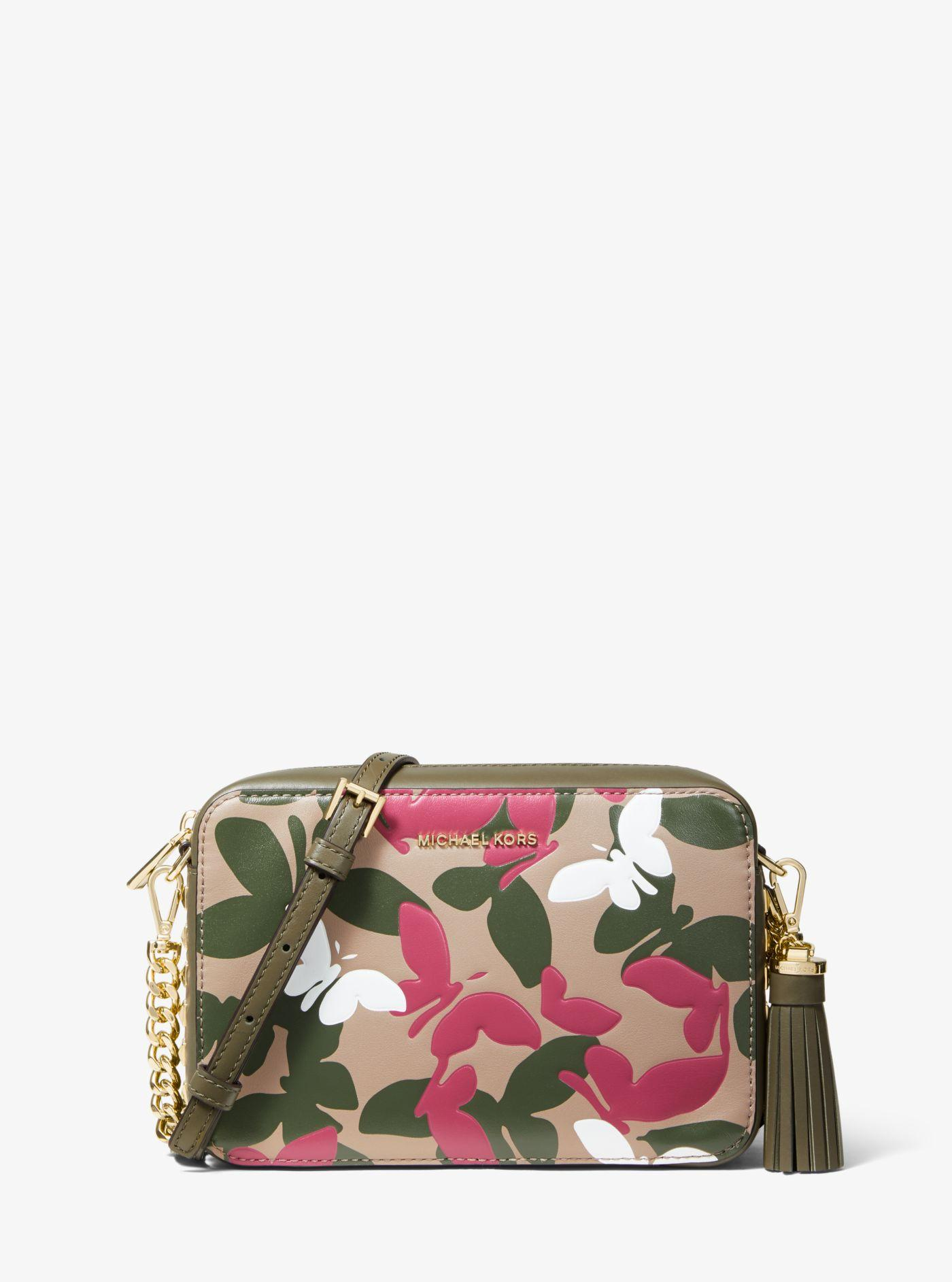 deb96d02e847 Michael Kors - Multicolor Ginny Medium Butterfly Camo Leather Crossbody -  Lyst. View fullscreen