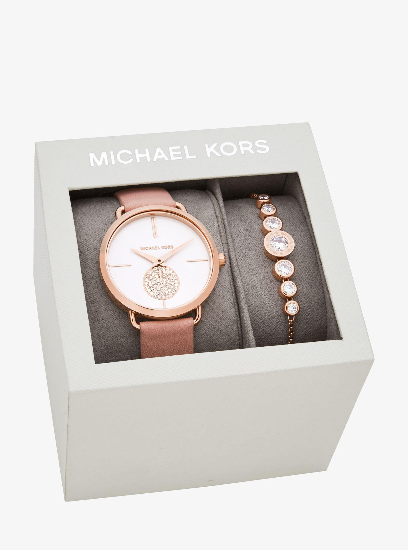 4360b1c758e9 Michael Kors Watch And Bracelet Set Silver Image Of. Michael Kors Women S Jaryn  Rose Gold Tone Stainless Steel Bracelet Watch
