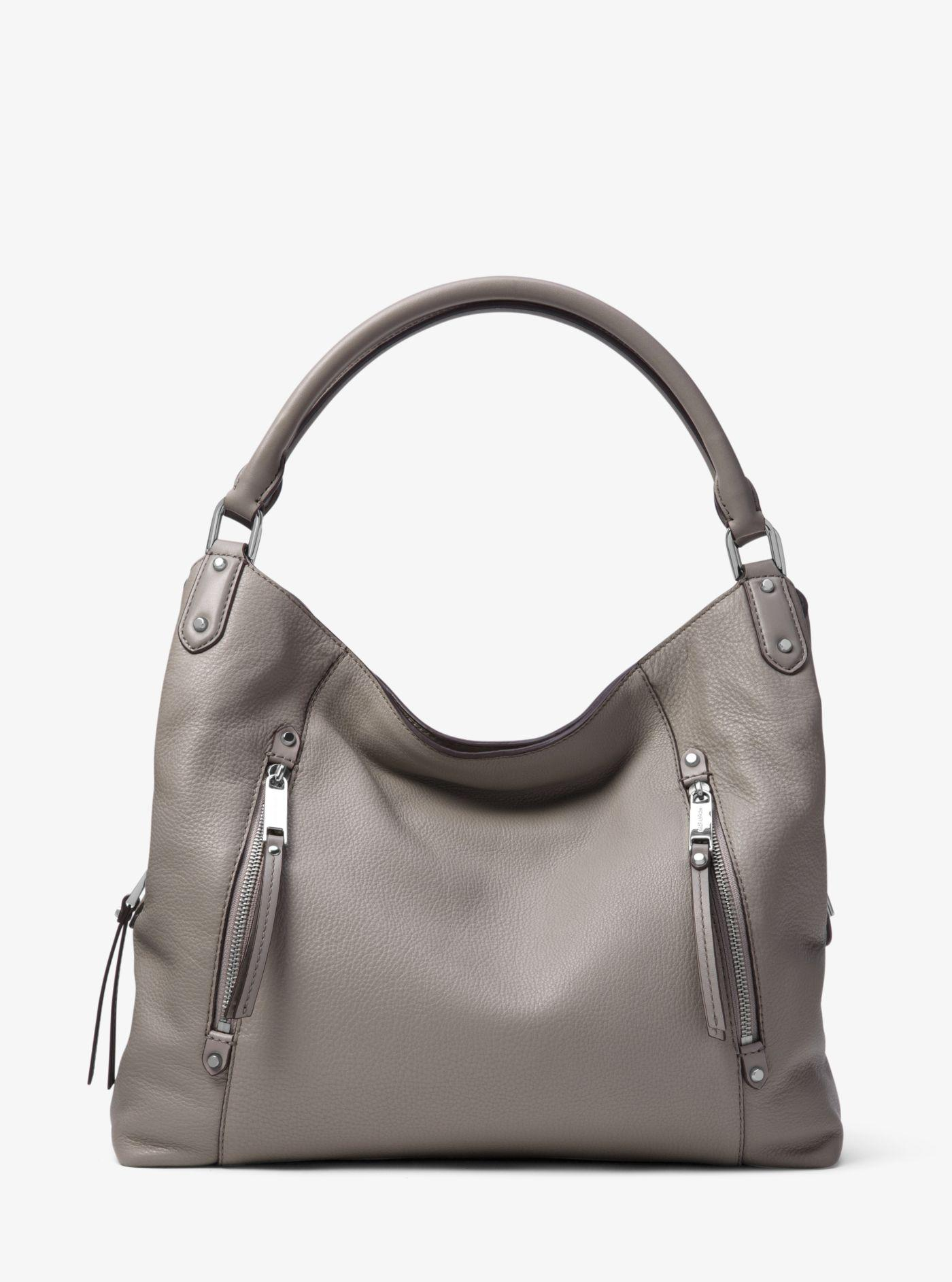 0e535c2a631dc9 Michael Kors Evie Large Leather Shoulder Bag in Gray - Lyst