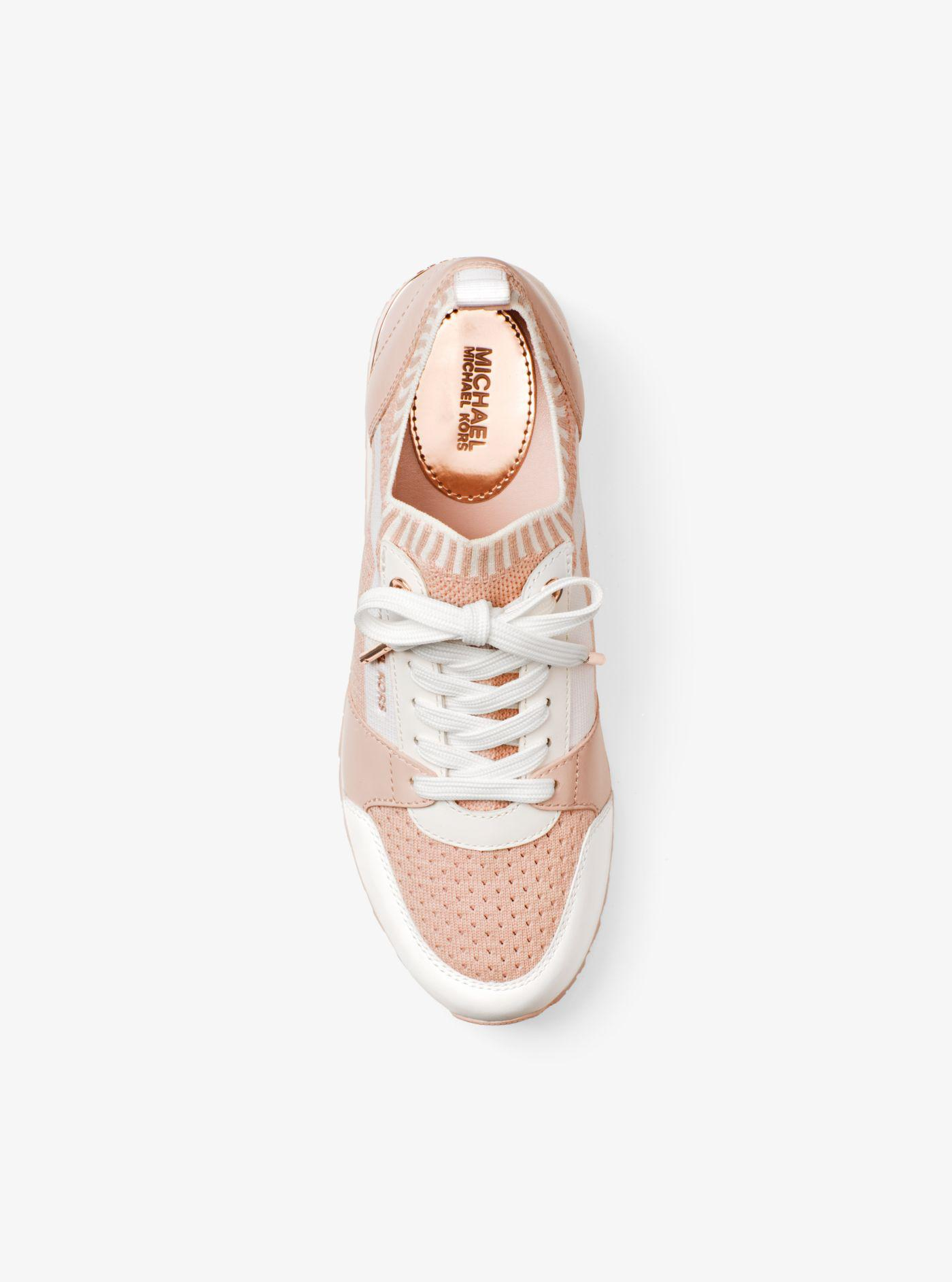 739f61afb0a0 Lyst - Michael Kors Billie Knit Trainer in Pink