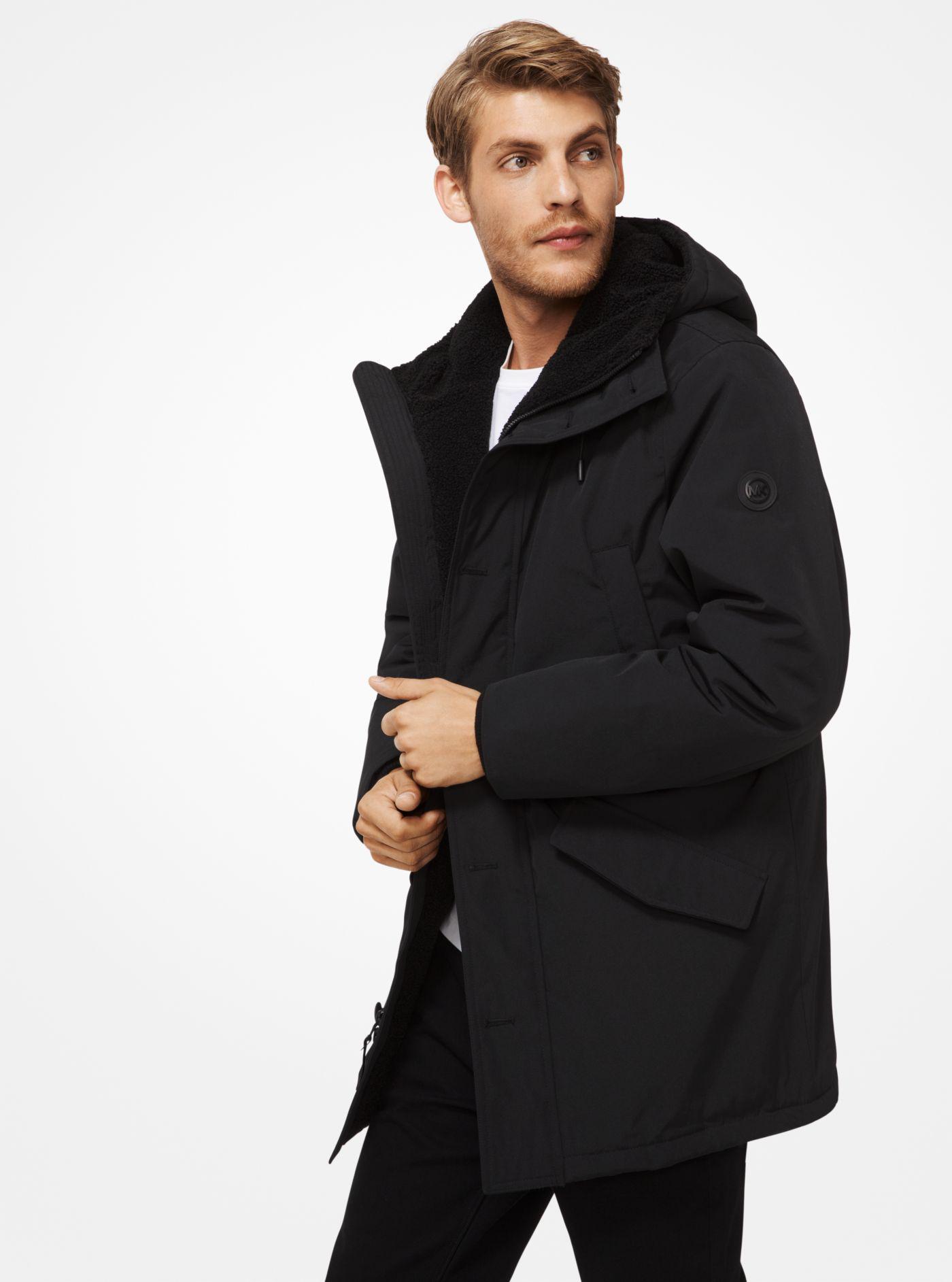 7487816a47ea Lyst - Michael Kors Sherpa-lined Parka in Black for Men