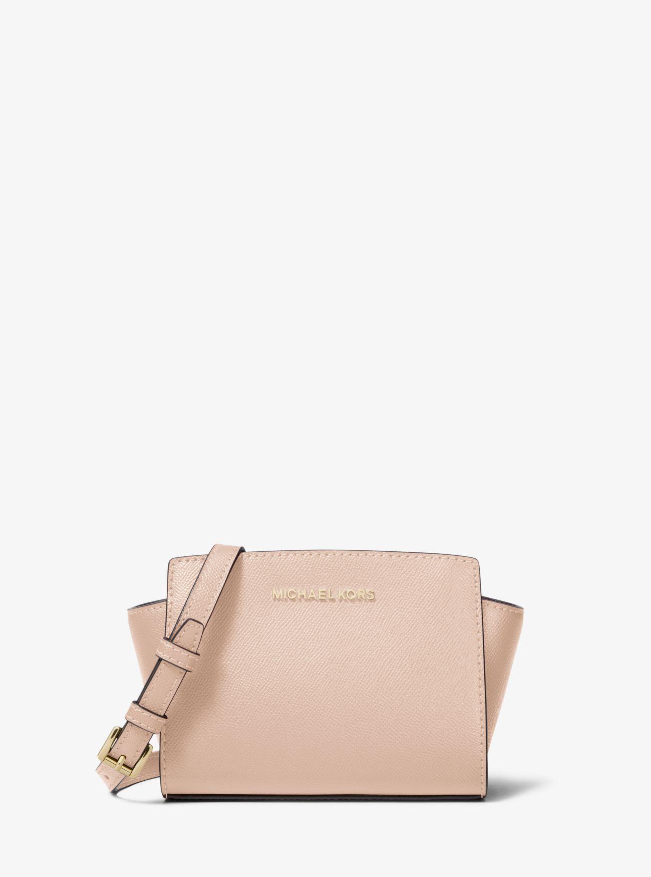 97c921ae7409 MICHAEL Michael Kors. Women's Pink Selma Mini Saffiano Leather Crossbody