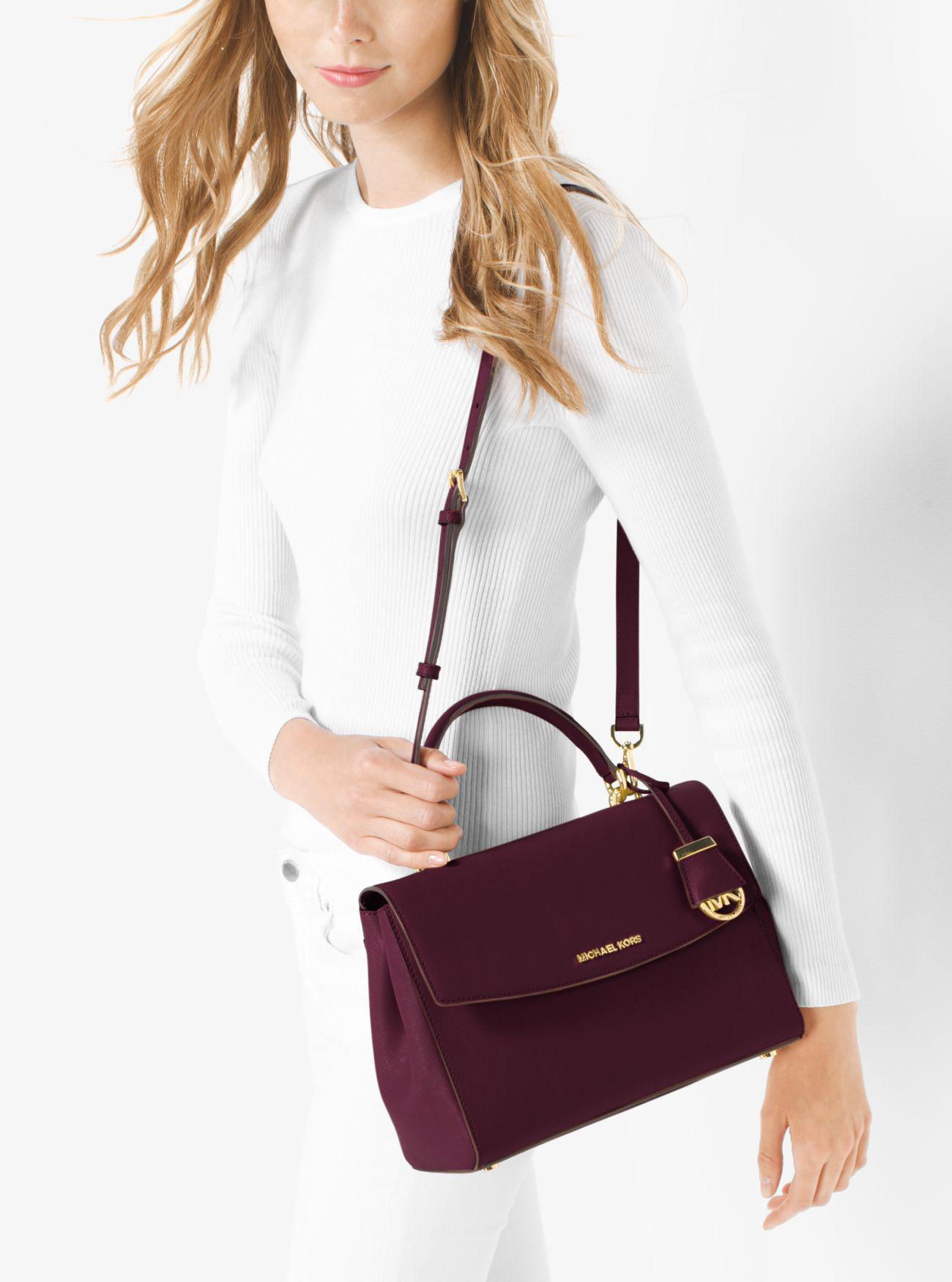 4260456c8904 Womens Michael Kors ... Michael kors Ava Small Plum Saffiano Leather  Satchel Bag Ly NWT NEW Michael Kors Saffiano ...
