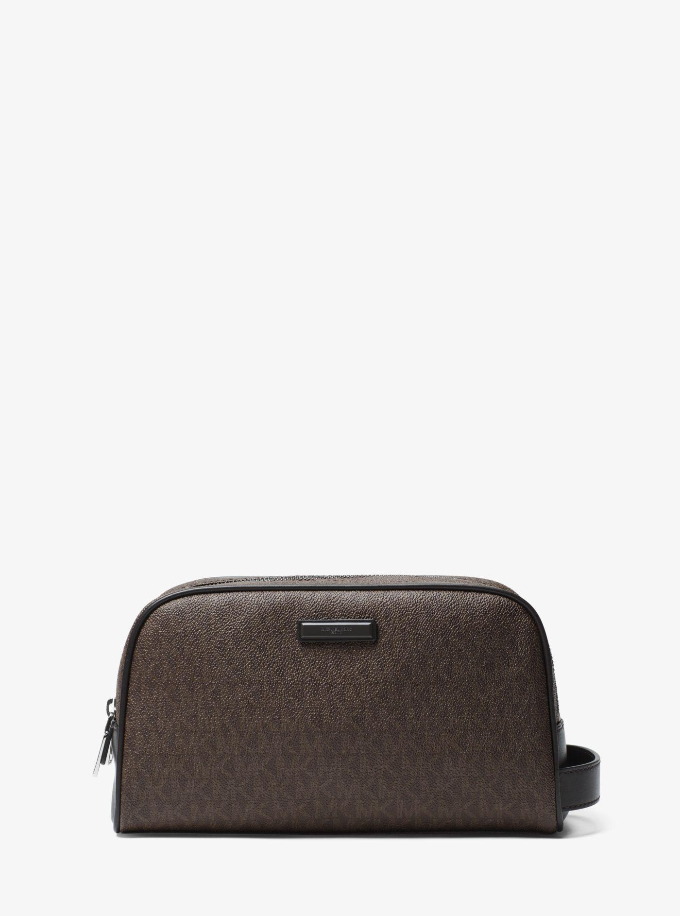 f825f4fd8bf78 Lyst - Michael Kors Jet Set Logo Double-zip Travel Case in Brown for Men