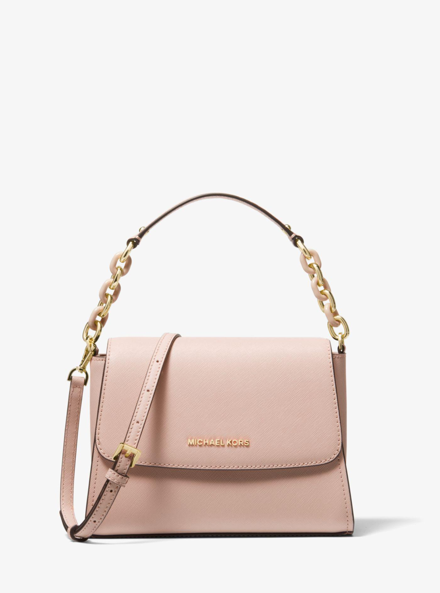 3d1e4e8b84c7 ... Sofia Small Saffiano Leather Satchel - Lyst. View fullscreen