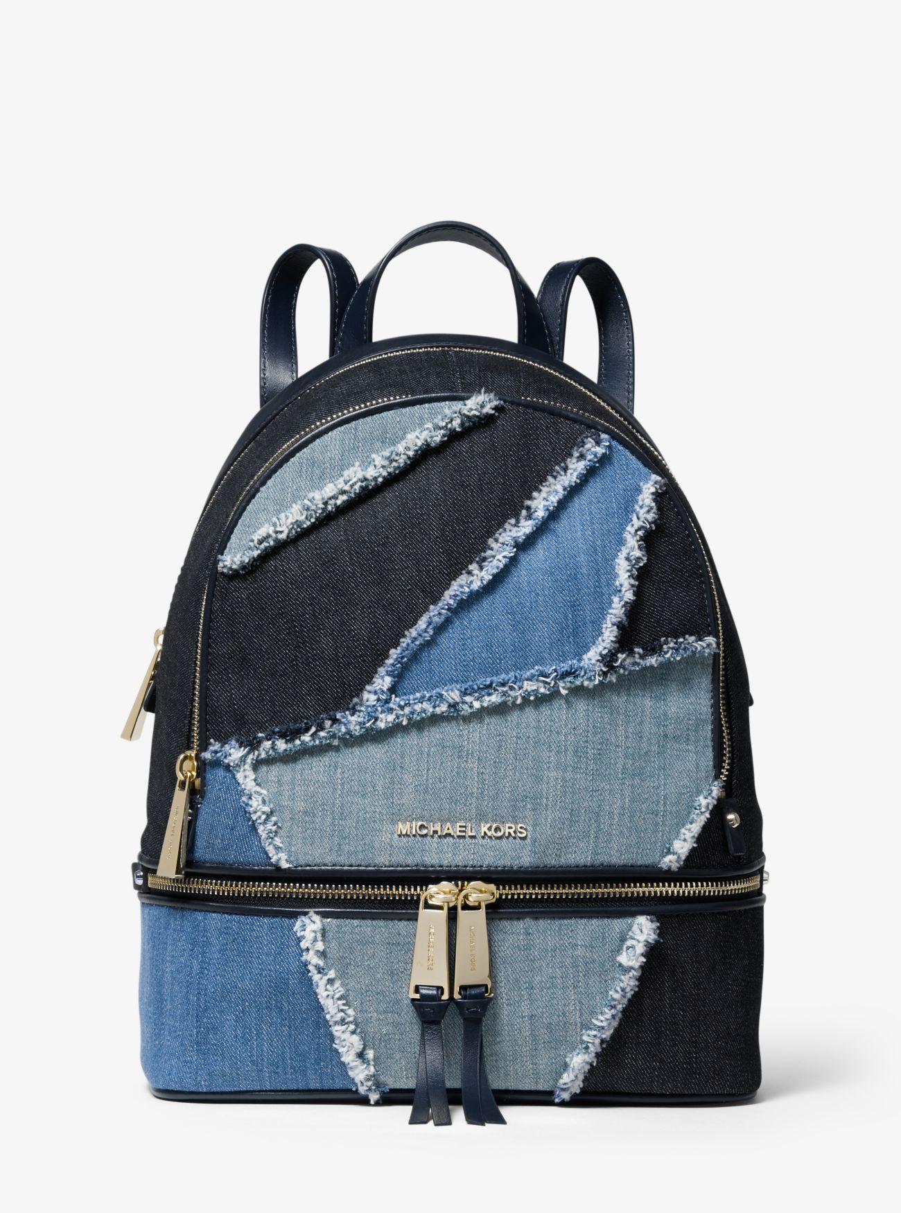 411f4794b5e5b6 MICHAEL Michael Kors. Women's Blue Rhea Medium Frayed Denim Backpack