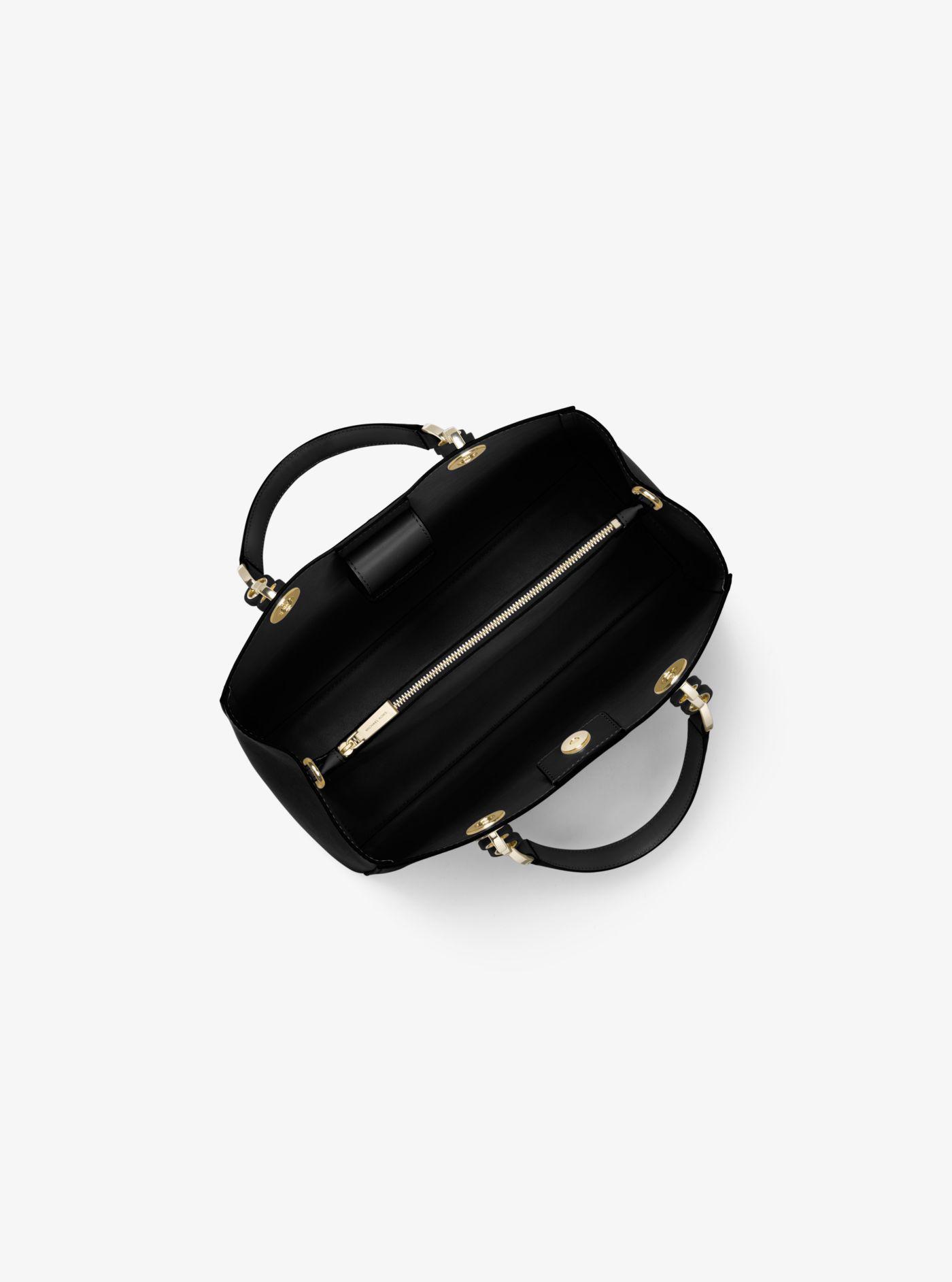 14766916744e Michael Kors - Black Cynthia Medium Leather Satchel - Lyst. View fullscreen