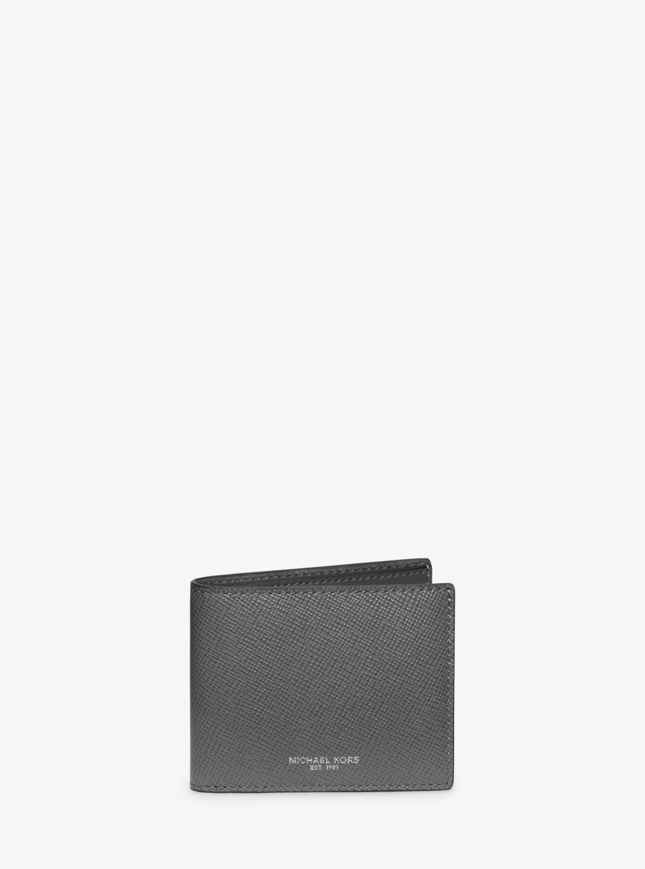 8881b02a83ce Michael Kors Harrison Leather Slim Billfold Wallet in Blue for Men ...