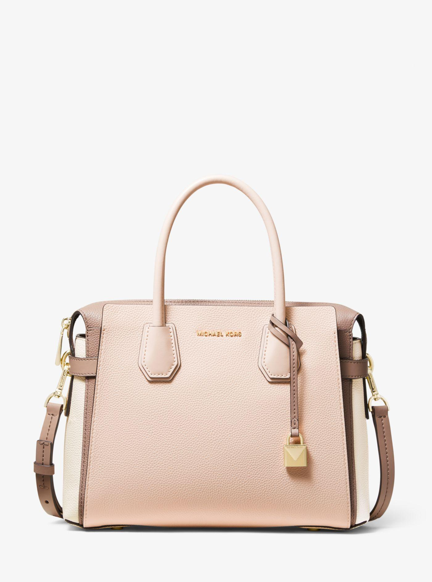 b708caa9c689 Michael Kors. Women s Mercer Medium Tri-color Pebbled Leather Belted Satchel