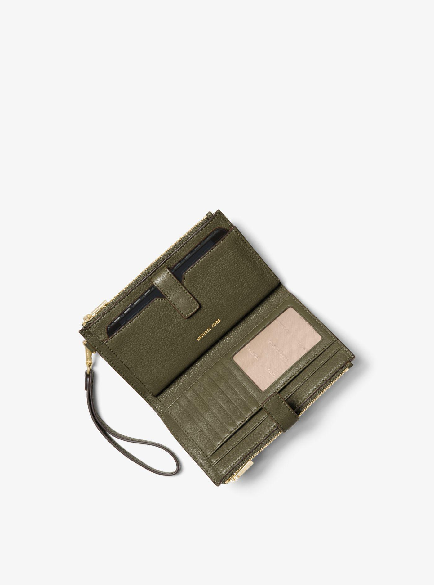 ea1cdc58ebf6 Michael Kors - Green Adele Leather Smartphone Wallet - Lyst. View fullscreen