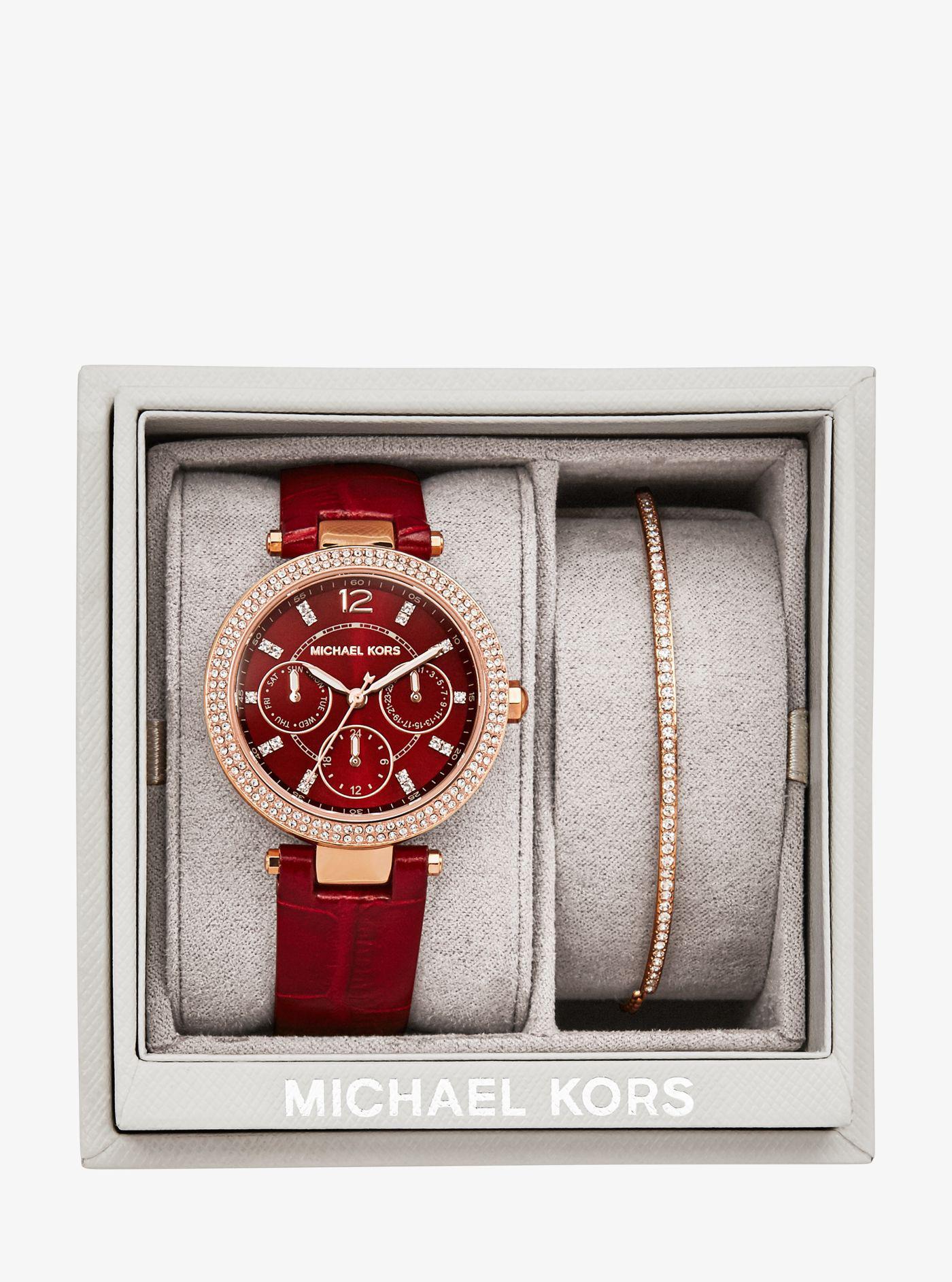 b4b85ce3061c Lyst - Michael Kors Mini Parker Rose Gold-tone Gift Set