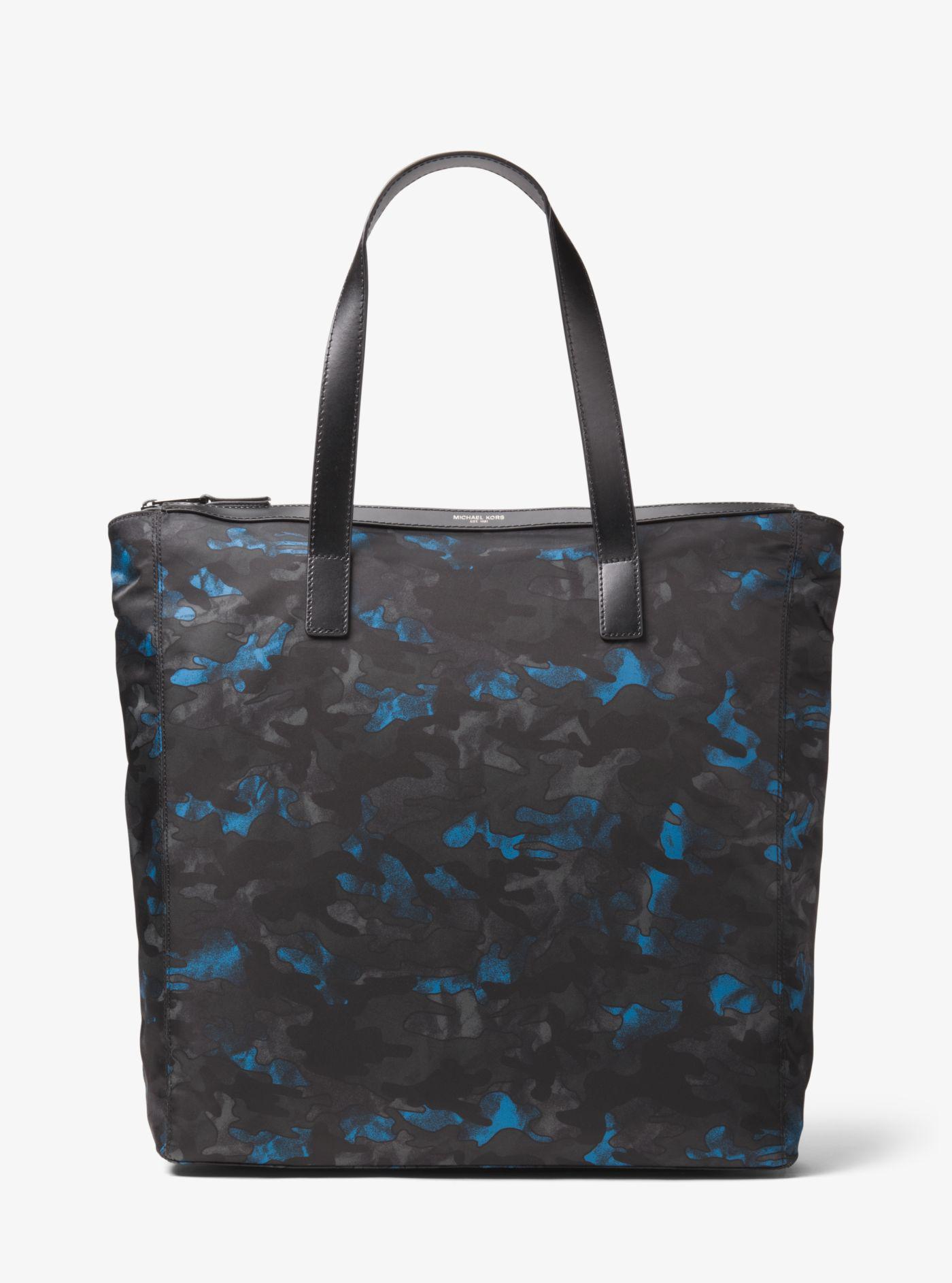bd6eb4f9a053 Michael Kors - Blue Kent Large Camouflage Nylon Tote - Lyst. View fullscreen