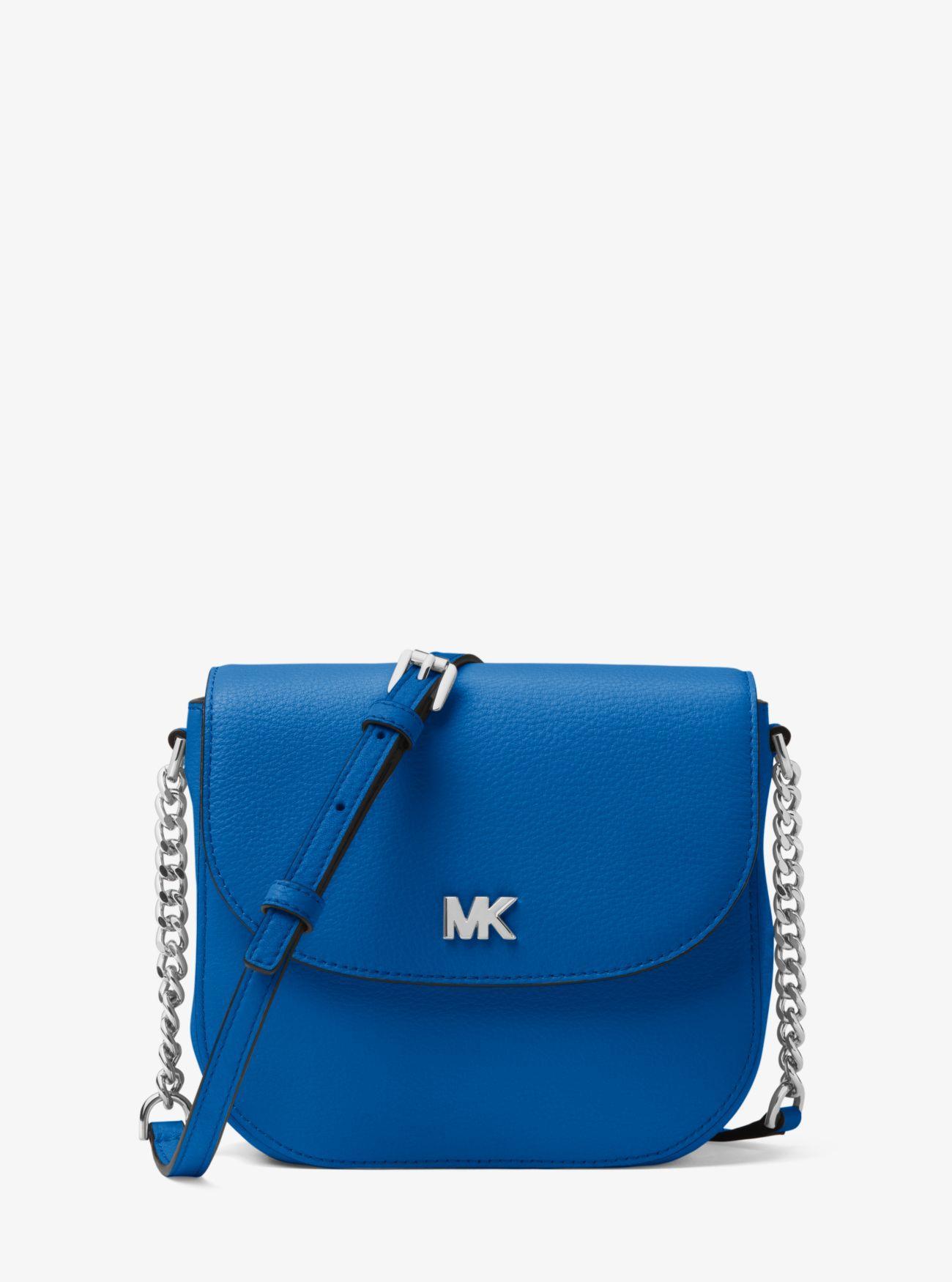 11cc6747c835 Lyst - MICHAEL Michael Kors Mott Leather Dome Crossbody Bag in Blue