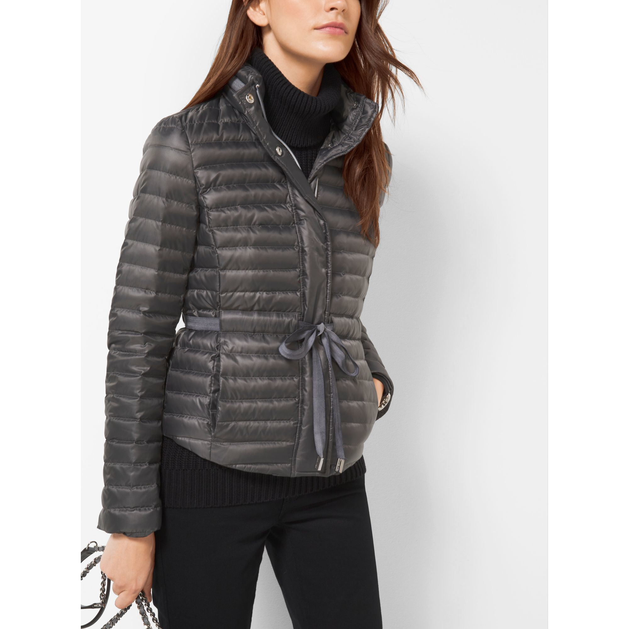 Michael Kors Packable Nylon Puffer Jacket Lyst