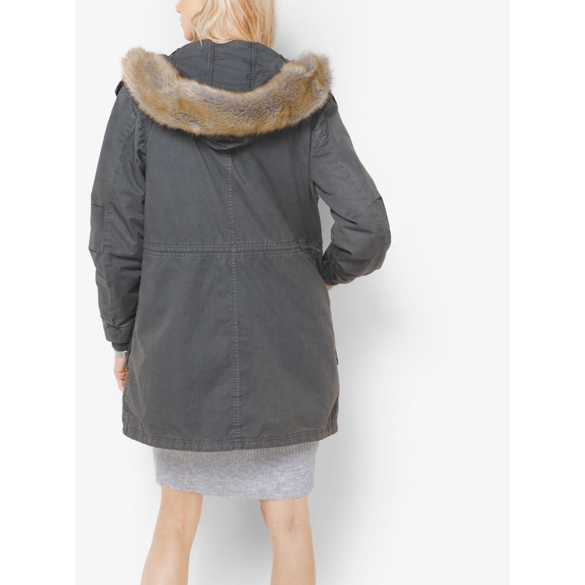 Twill fleece lined parka