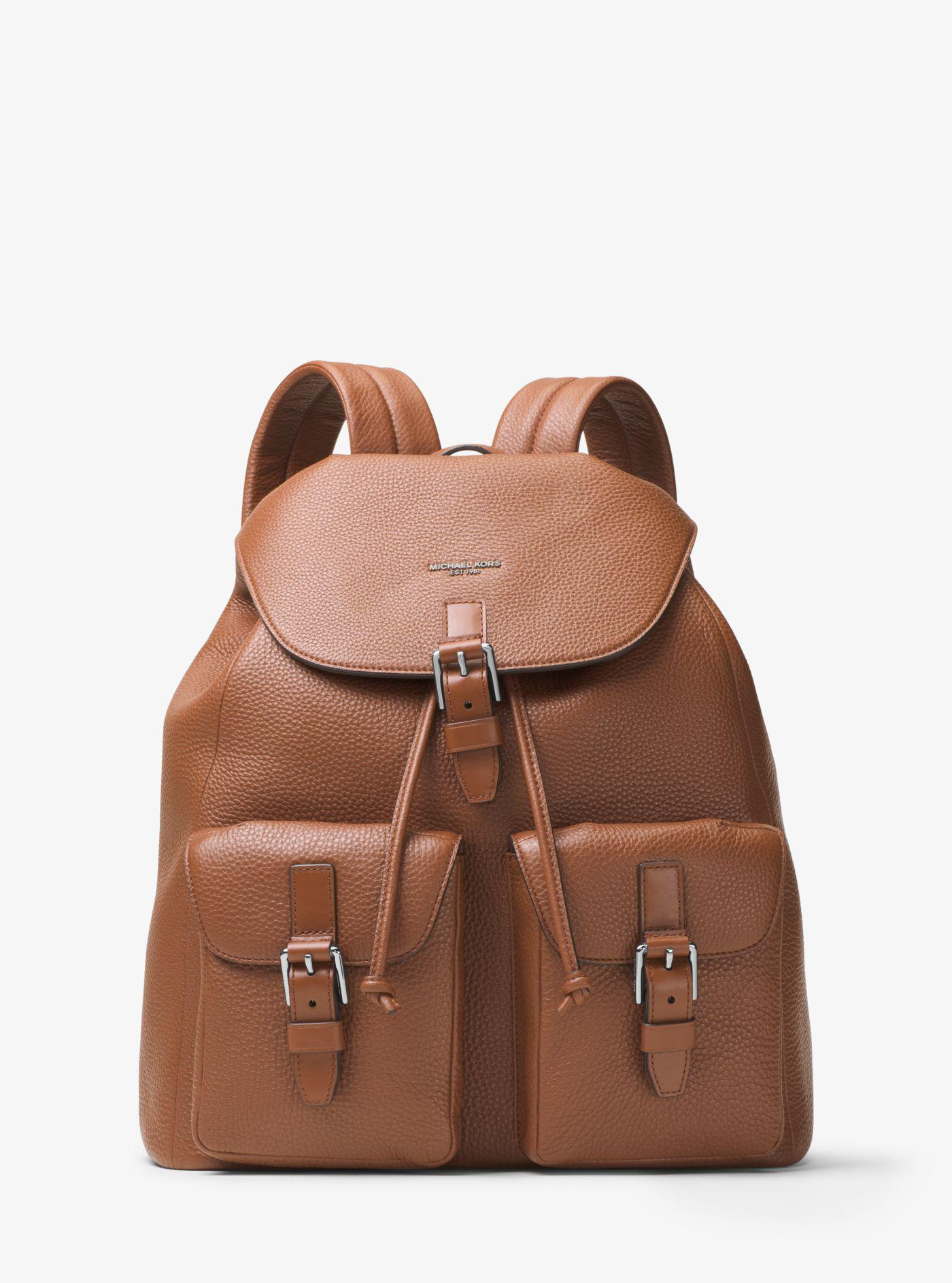 c97349c1b5b6 Lyst - Michael Kors Bryant Leather Backpack in Brown for Men