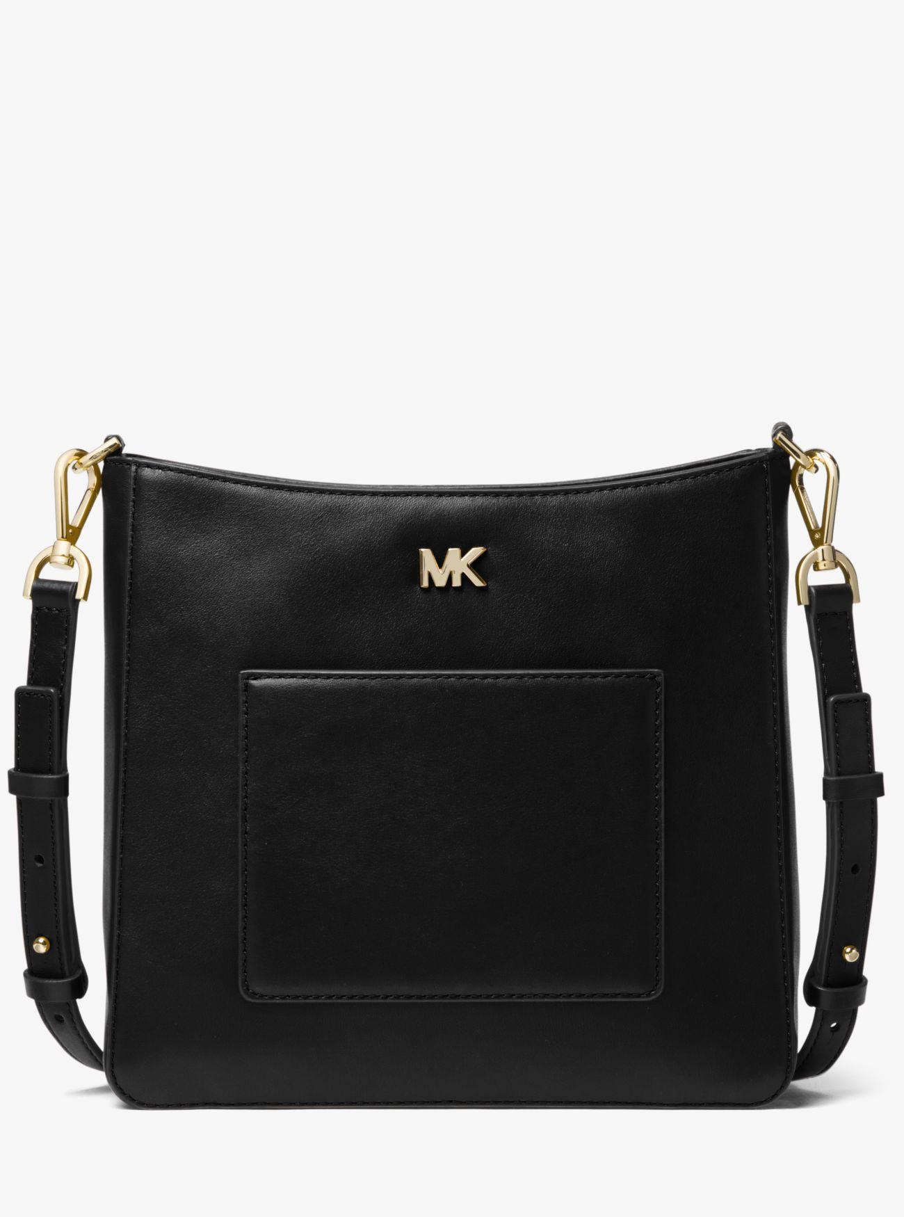8fd8463c29c1 MICHAEL Michael Kors - Black Gloria Leather Messenger - Lyst. View  fullscreen