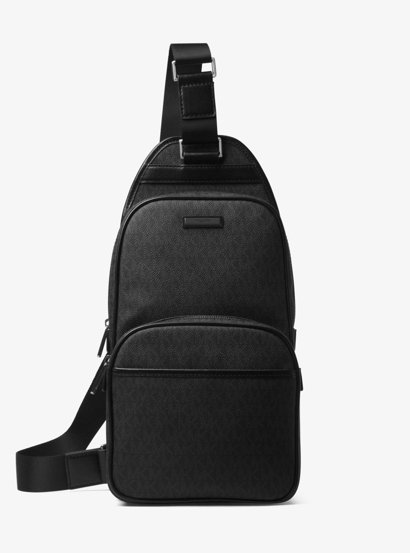 485e1fbc83e5 Lyst - Michael Kors Jet Set Logo Sling Pack in Black for Men