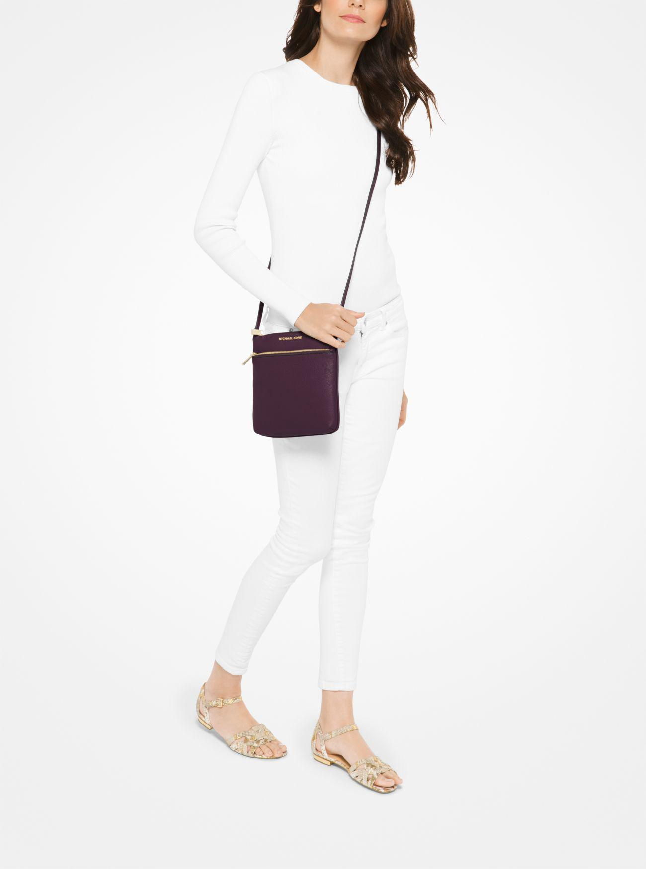 Lyst - Michael Kors Riley Small Pebbled-leather Crossbody 61e1022212461