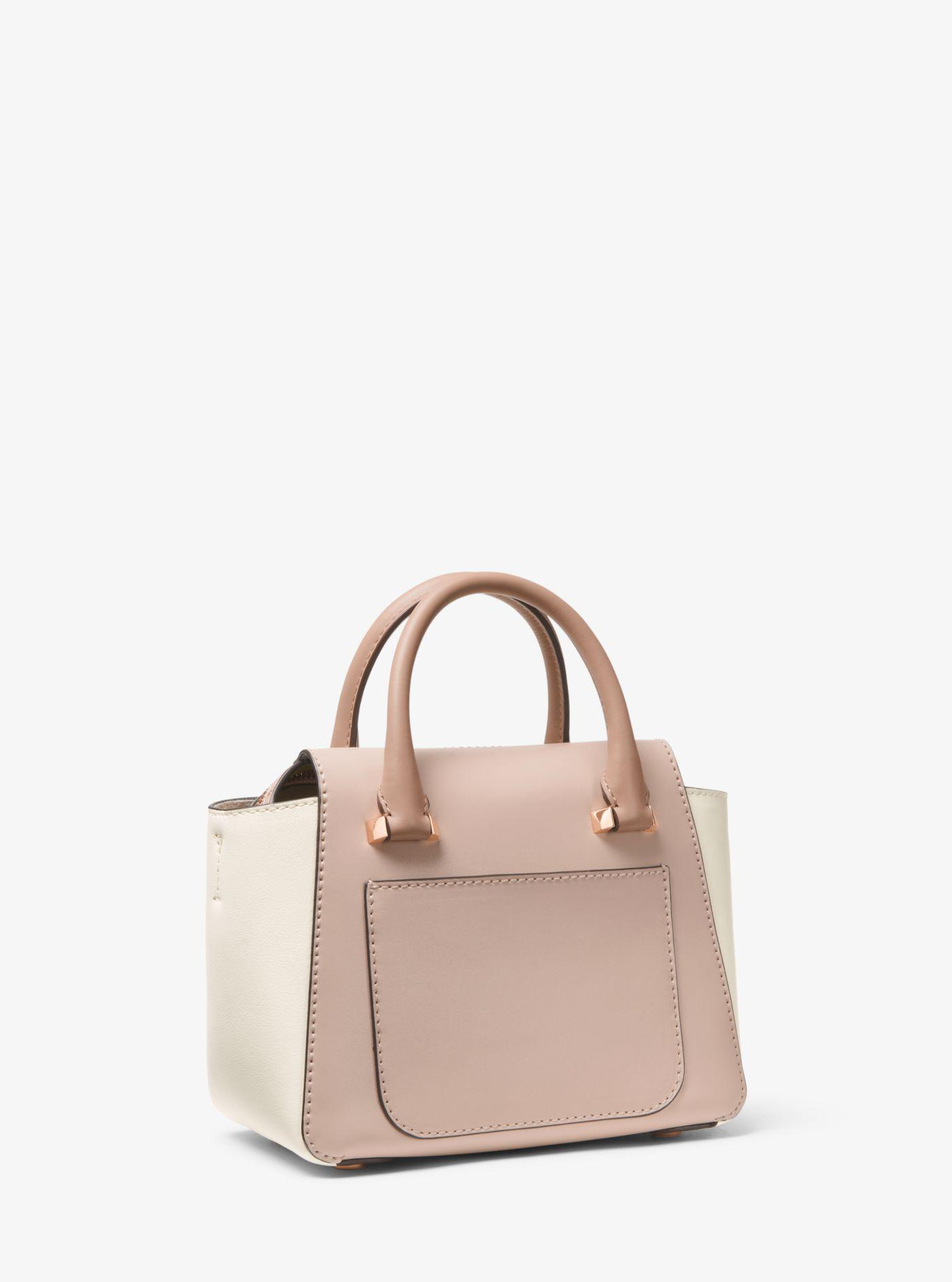 d71b4f6d0d6e Michael Kors Nolita Mini Color-block Leather Crossbody Bag - Lyst