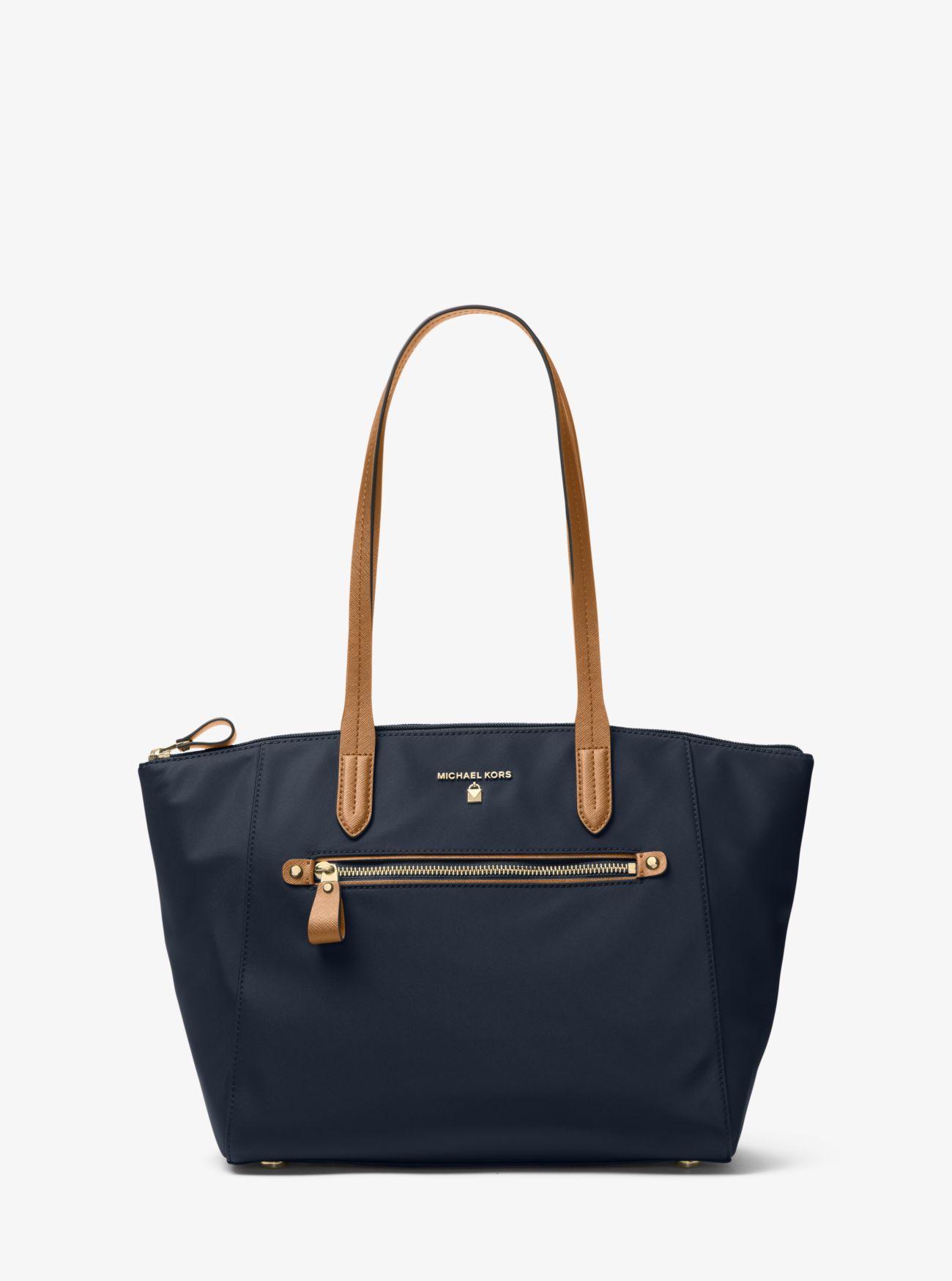 ce219cdaf877 MICHAEL Michael Kors - Blue Kelsey Medium Nylon Tote Bag - Lyst. View  fullscreen