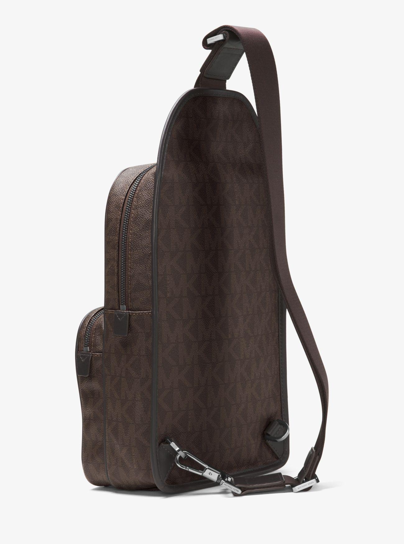 4d9de1845cf2ad Michael Kors Jet Set Travel Logo Sling Pack in Brown for Men - Lyst